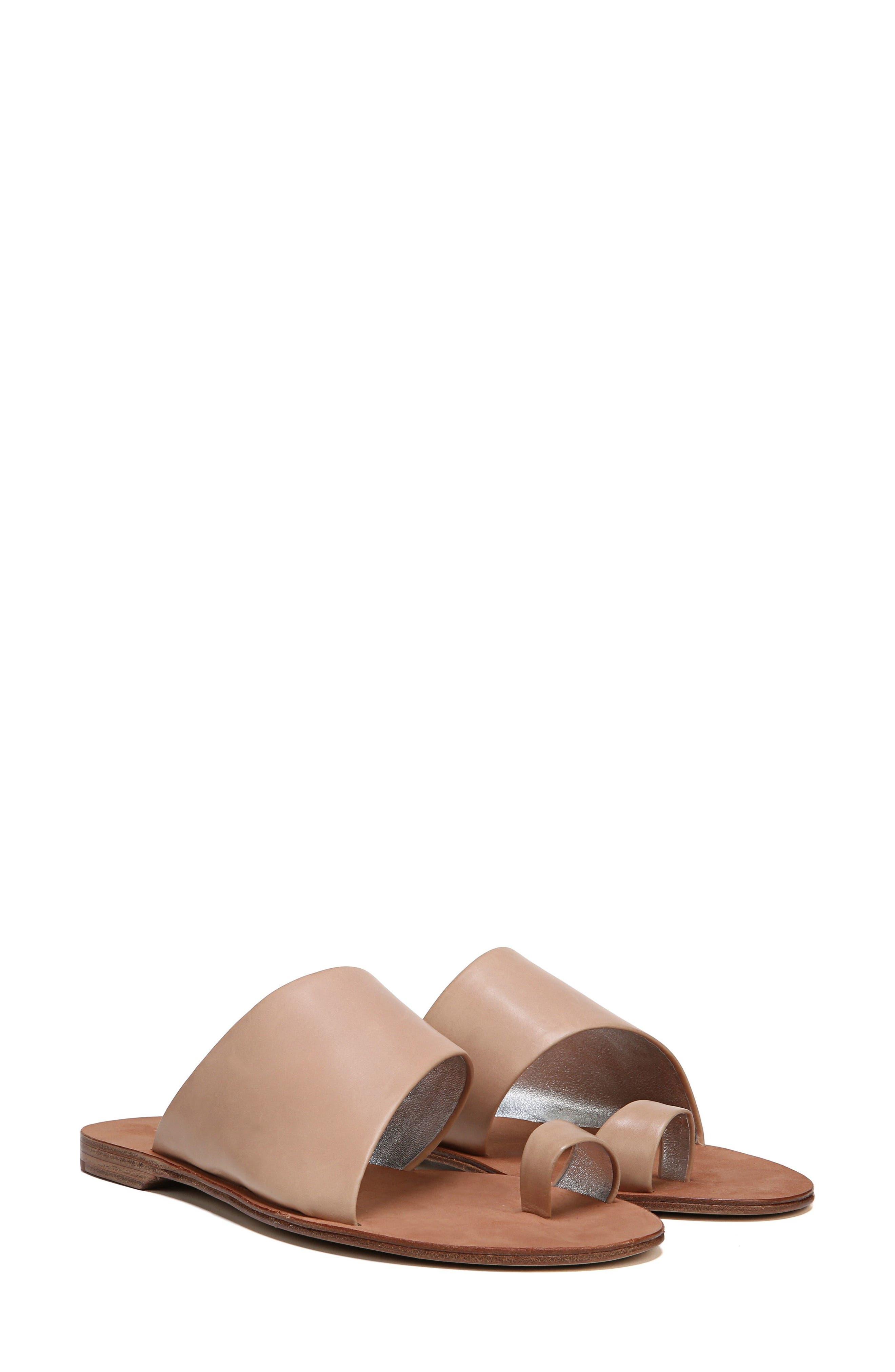 Brittany Asymmetrical Flat Sandal,                             Alternate thumbnail 7, color,                             202