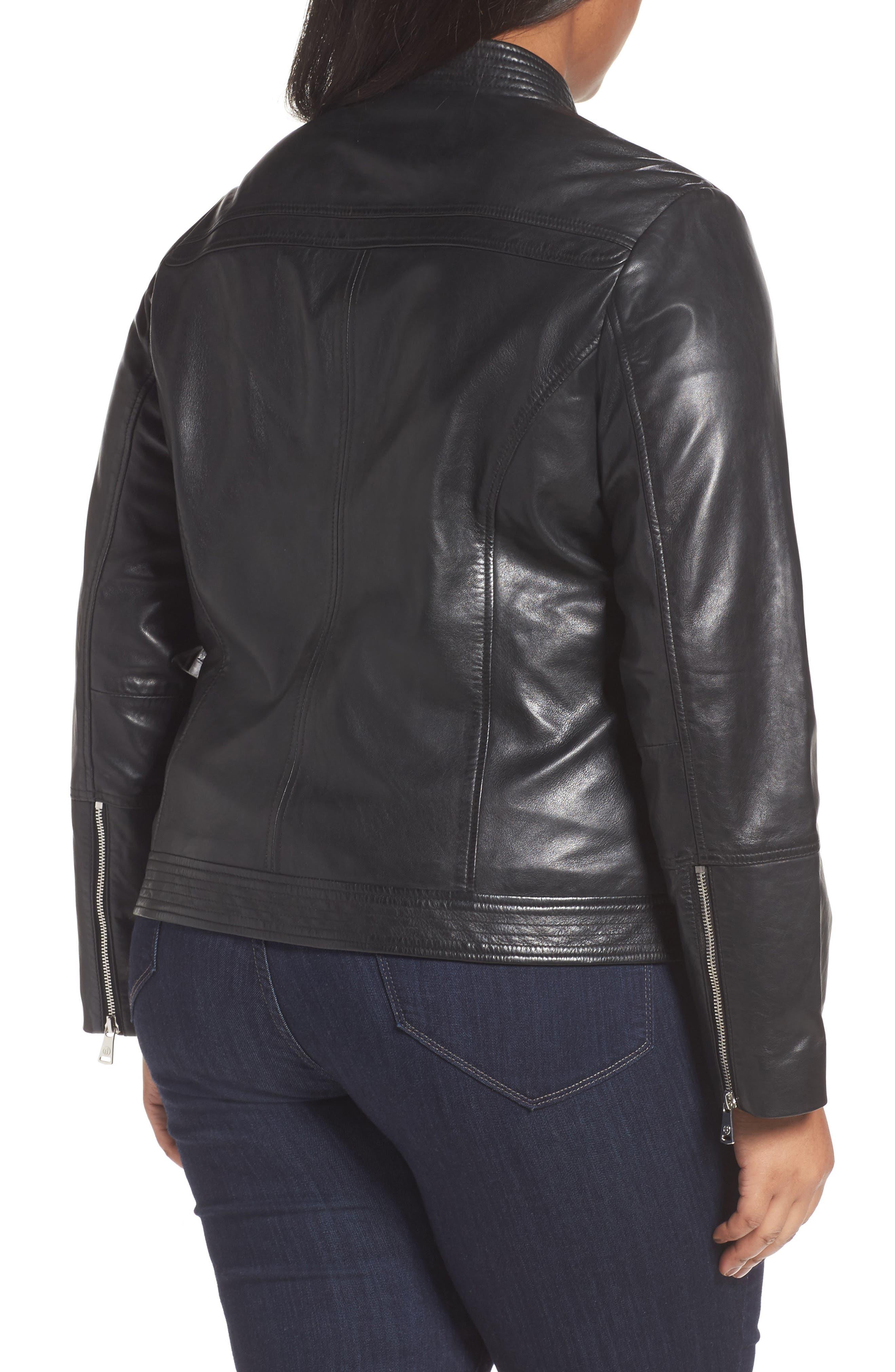 Kirwin Sheepskin Leather Jacket,                             Alternate thumbnail 2, color,                             001