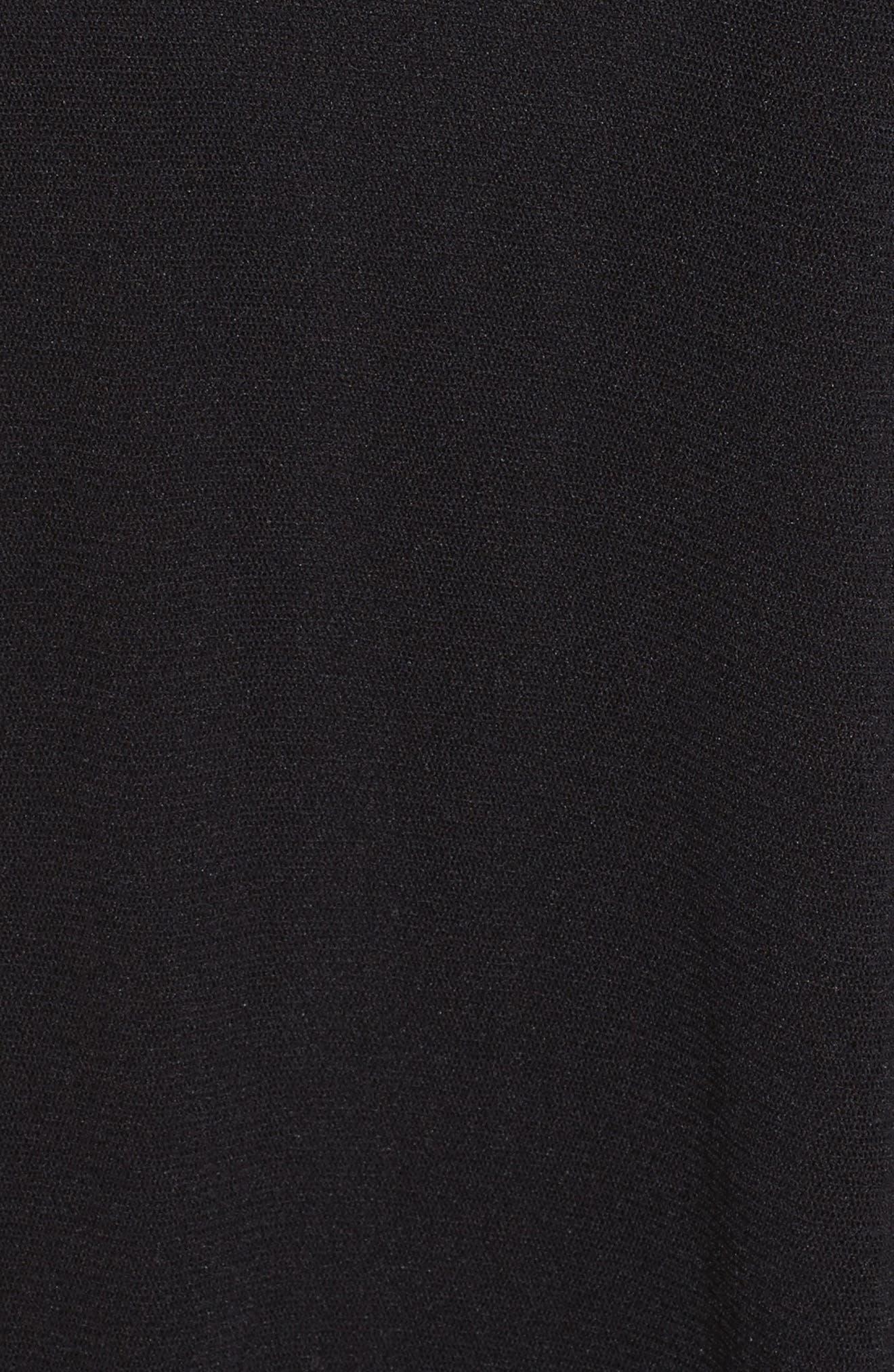 Tulle Midi Skirt,                             Alternate thumbnail 5, color,                             001