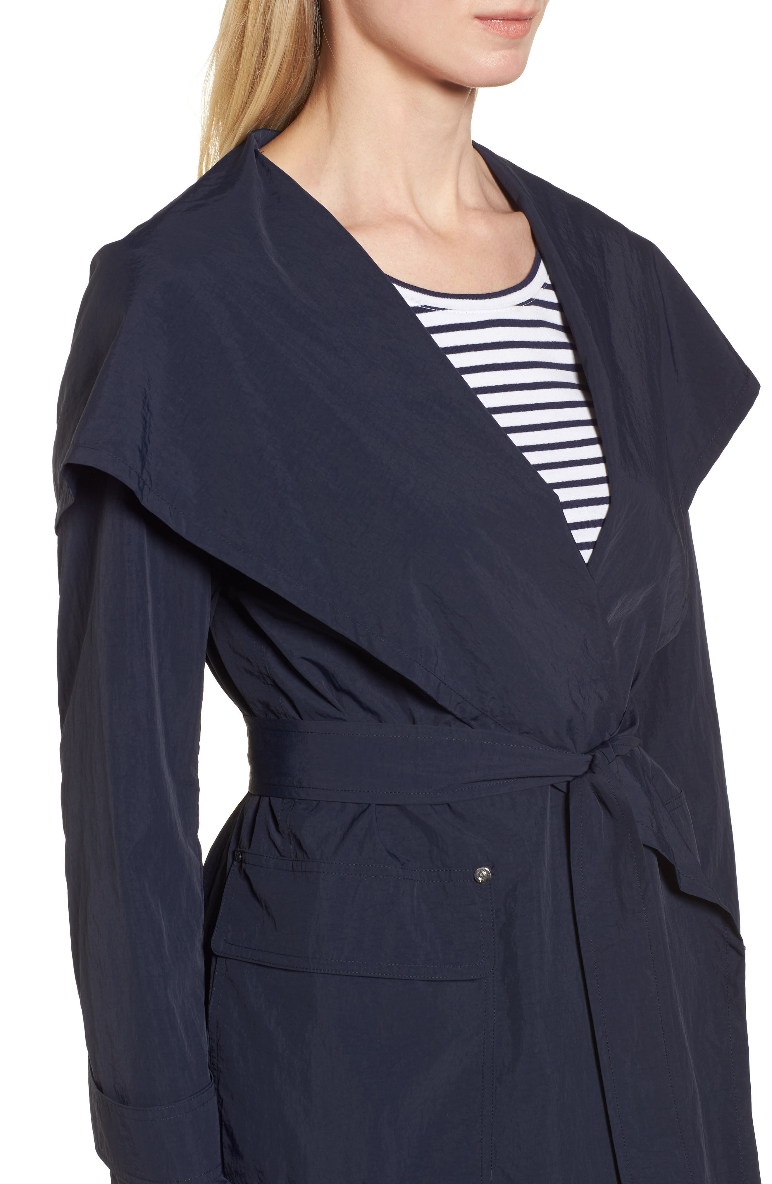 Flo Packable Hooded Raincoat,                             Alternate thumbnail 4, color,                             250