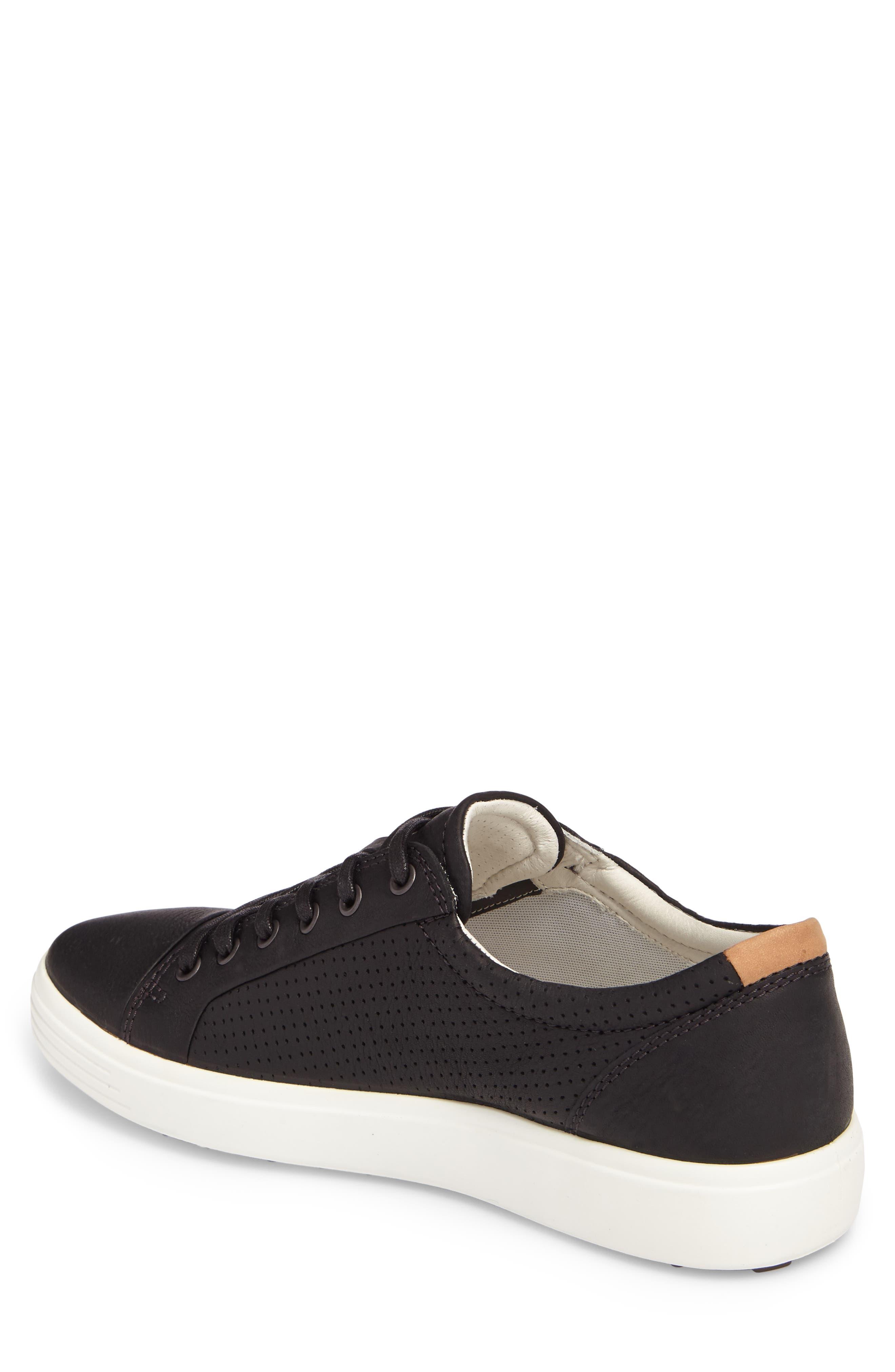 'Soft 7' Sneaker,                             Alternate thumbnail 2, color,                             BLACK LEATHER