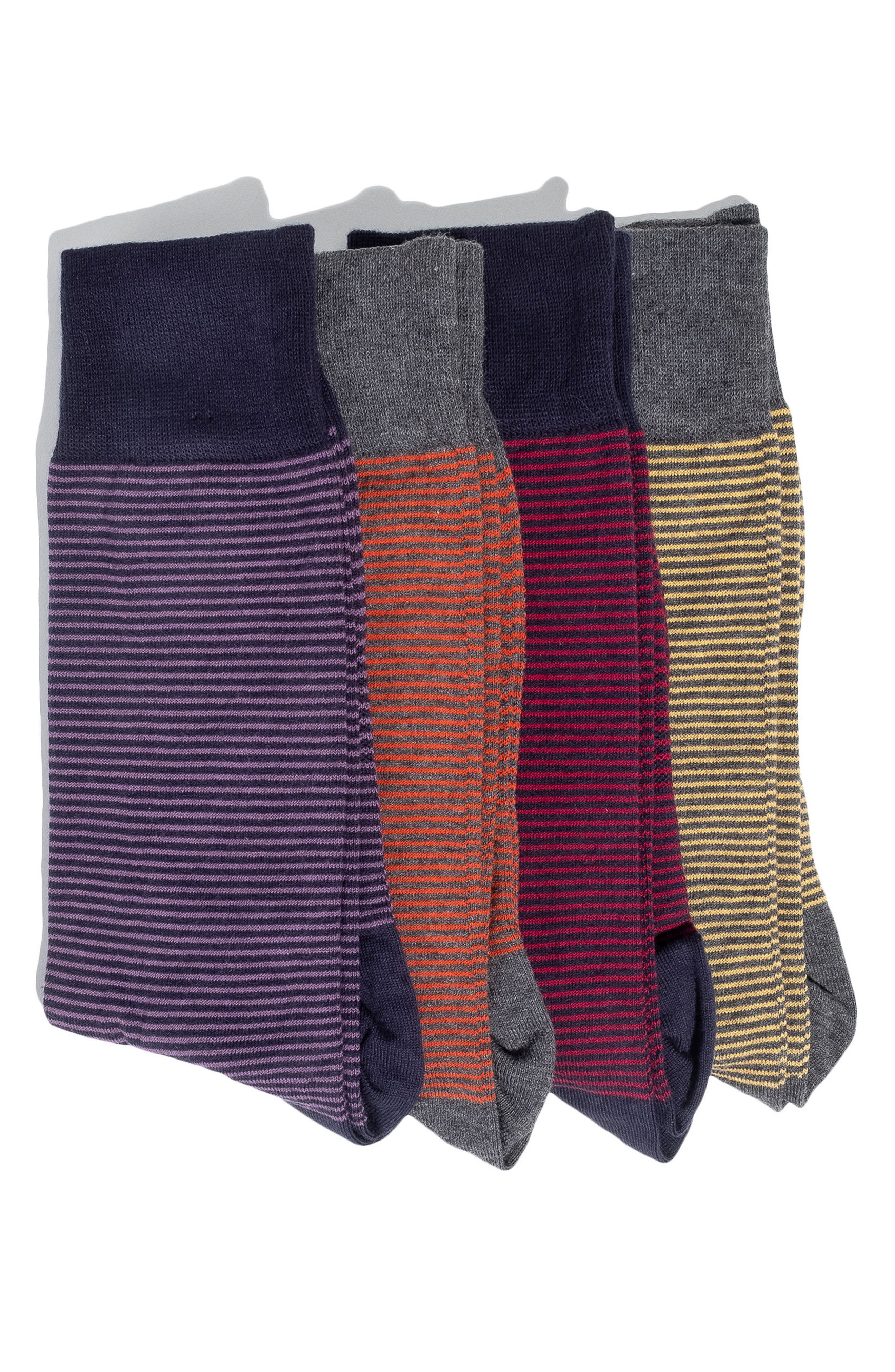 4-Pack Socks,                             Main thumbnail 1, color,                             RED