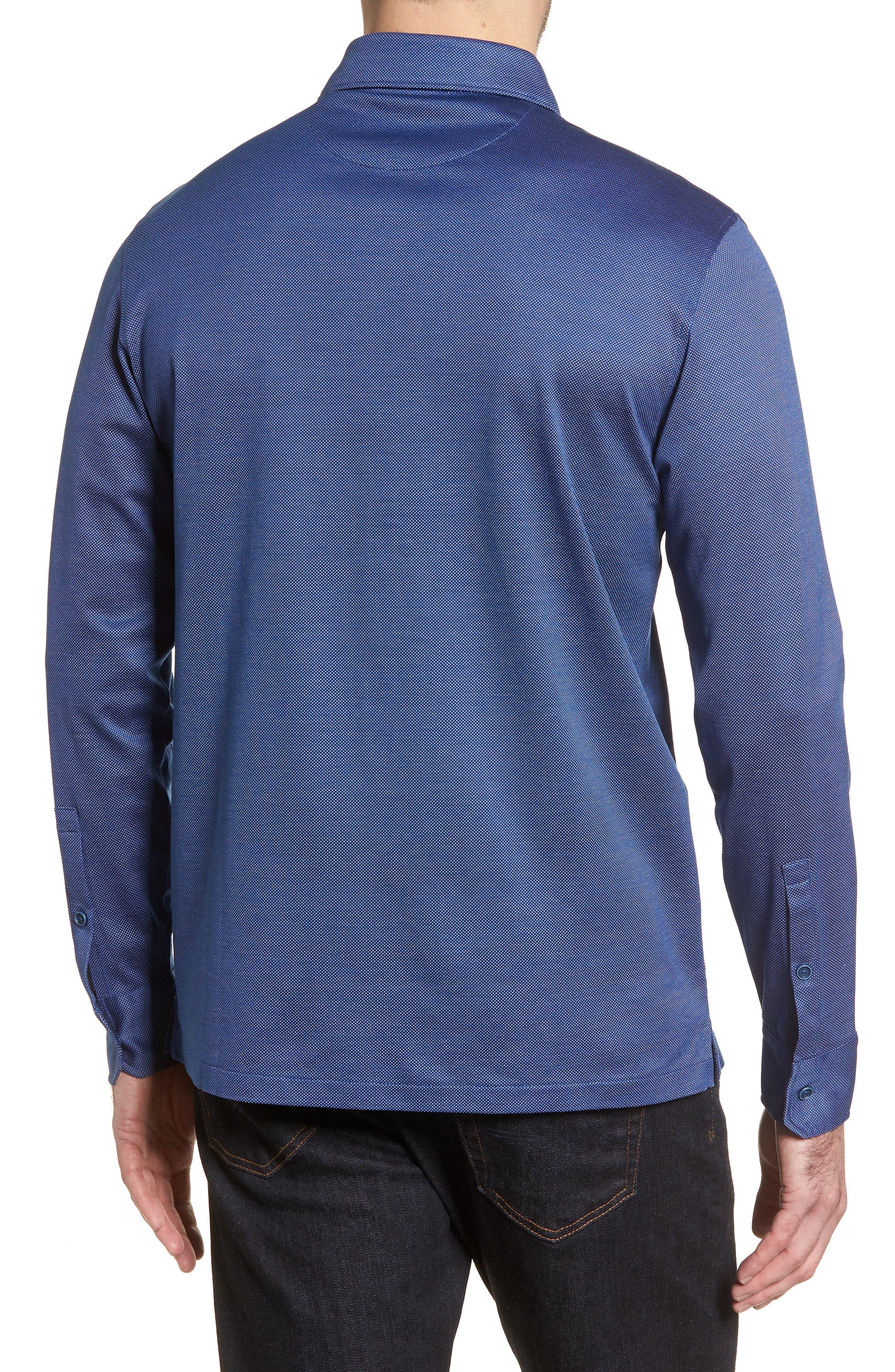 Regular Fit Microdot Print Knit Sport Shirt,                             Alternate thumbnail 2, color,                             411