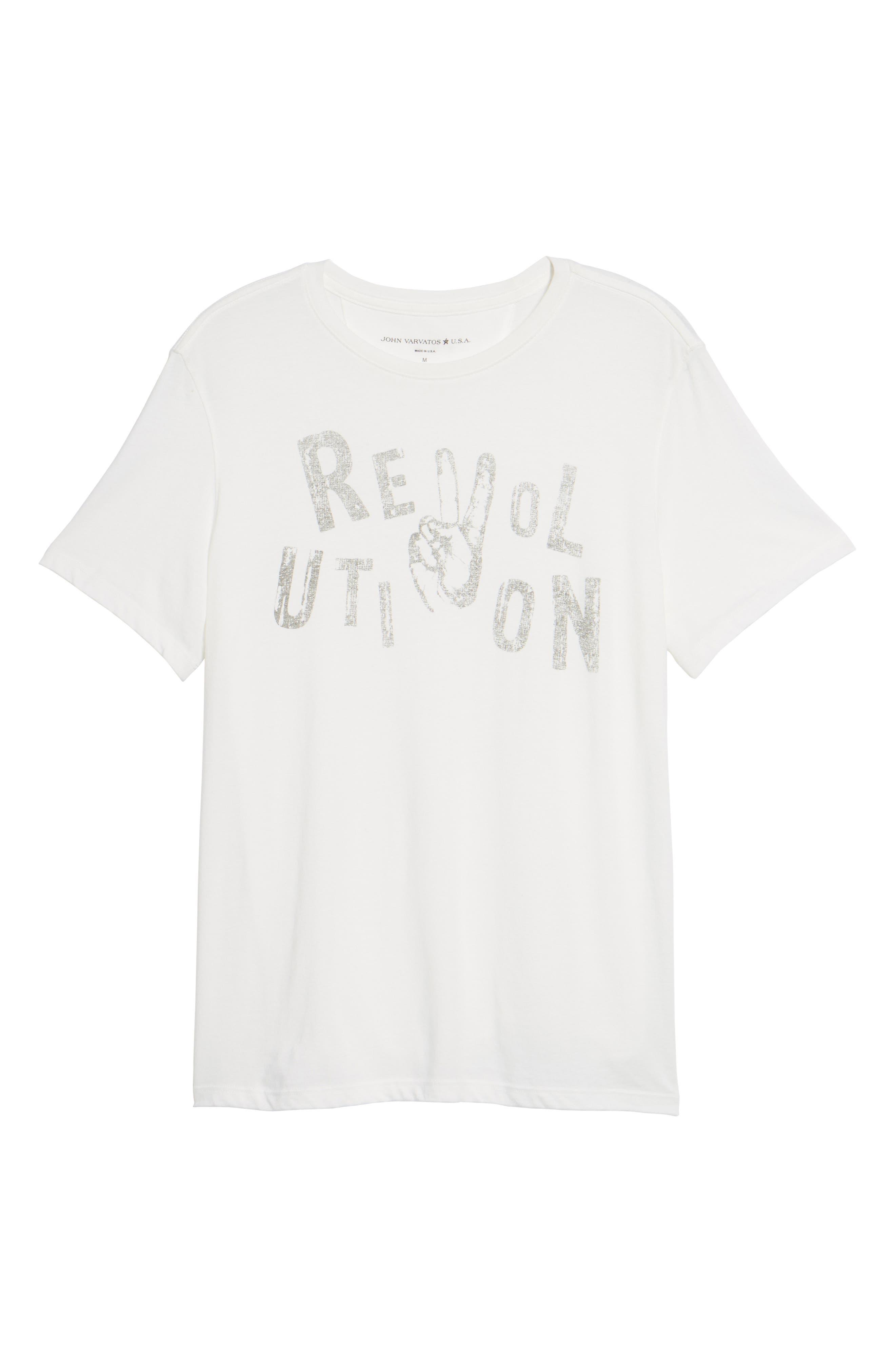 Revolution Graphic T-Shirt,                             Alternate thumbnail 6, color,                             103