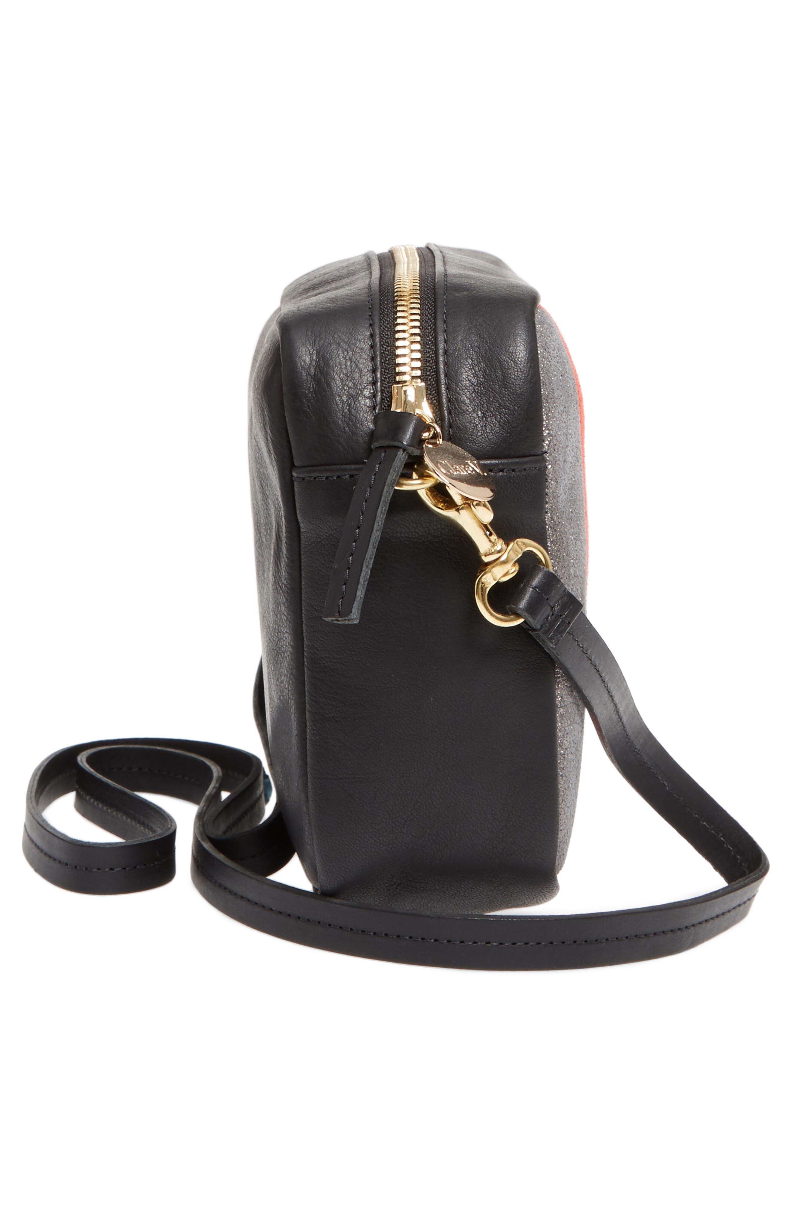 Midi Sac Stripe Leather Crossbody Bag,                             Alternate thumbnail 5, color,                             610