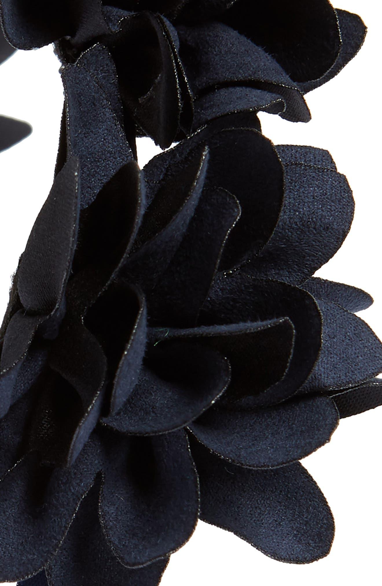 Manière Floral Headband,                             Alternate thumbnail 2, color,                             NAVY