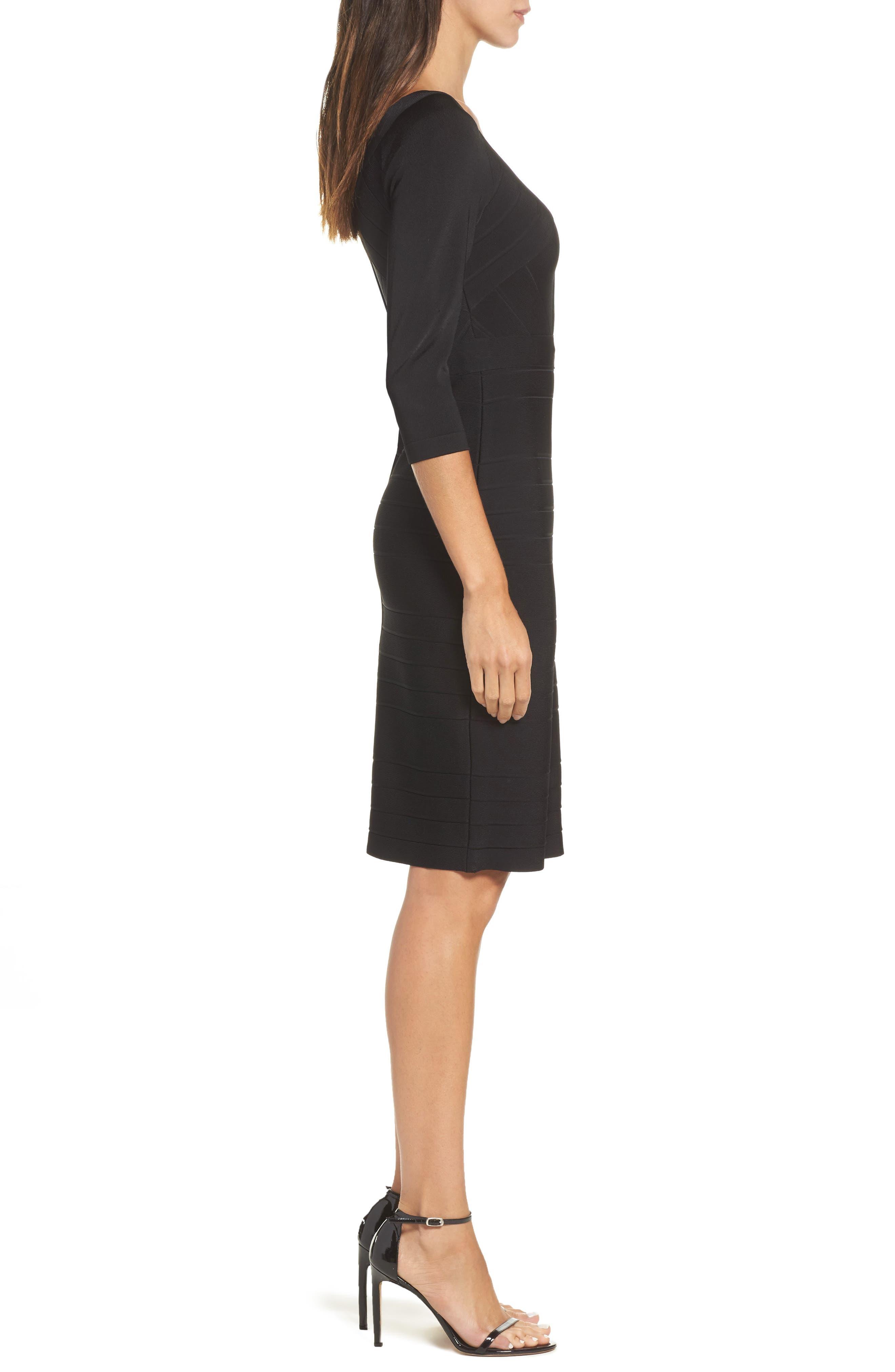 Bandage Midi Dress,                             Alternate thumbnail 4, color,                             001