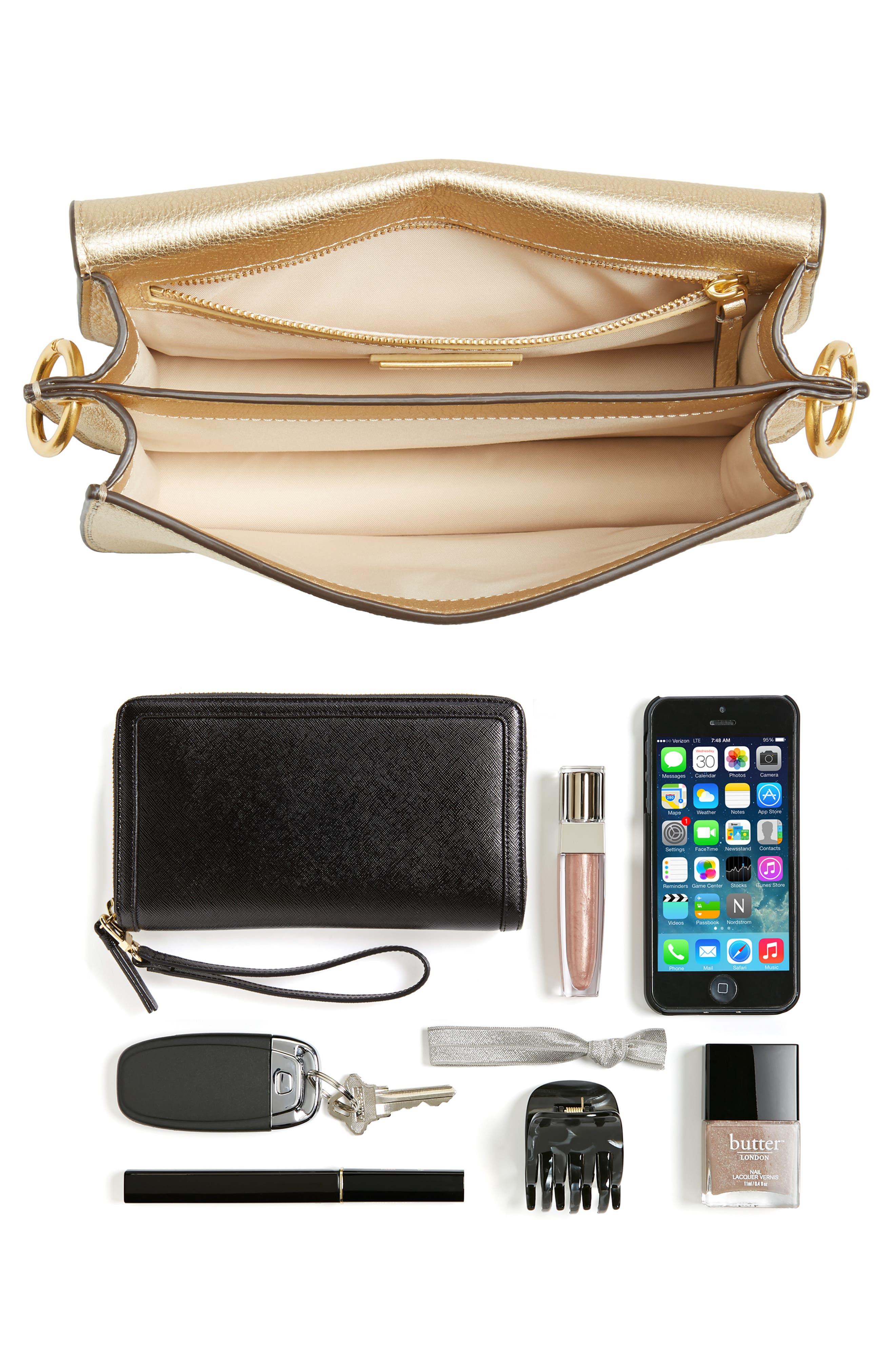 McGraw Metallic Leather Shoulder Bag,                             Alternate thumbnail 7, color,