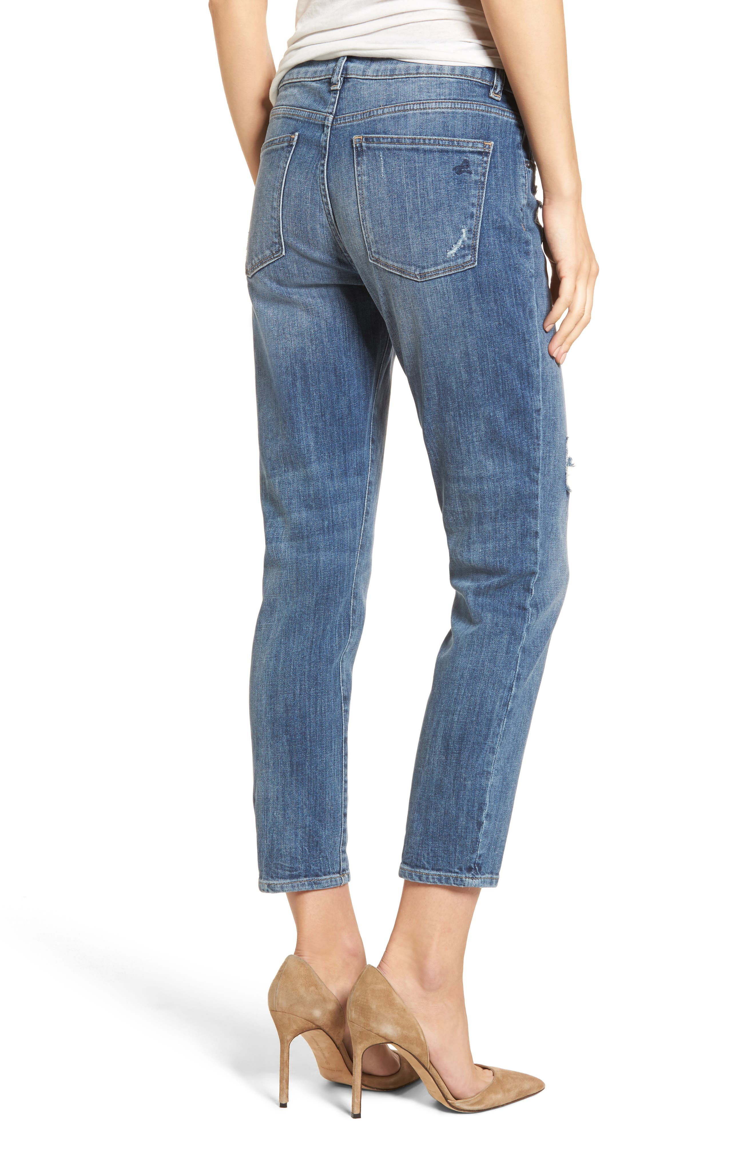 Davis Ankle Girlfriend Jeans,                             Alternate thumbnail 2, color,                             425