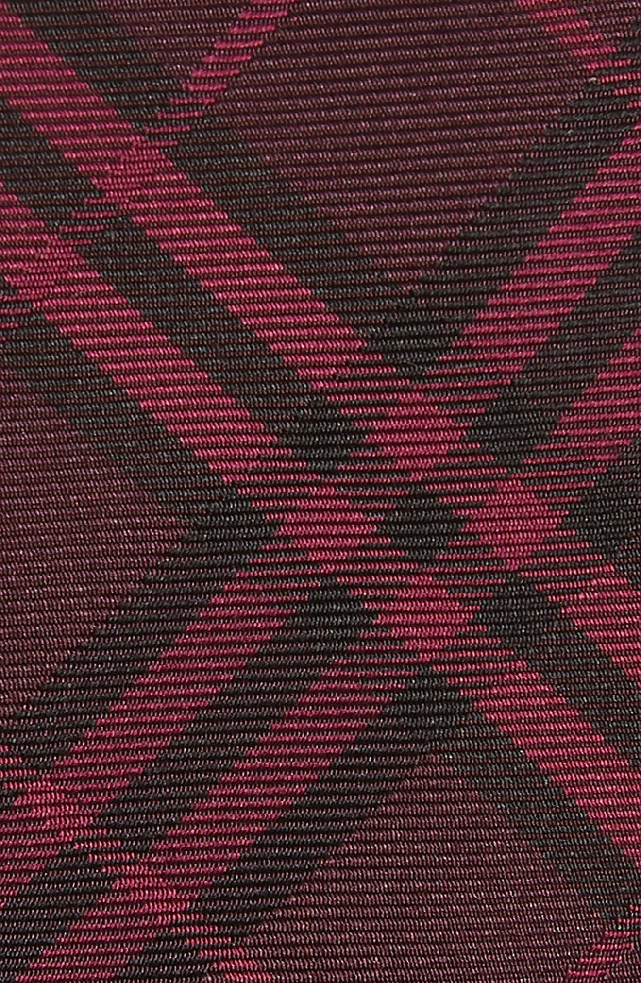 BURBERRY,                             Stanfield Silk Tie,                             Alternate thumbnail 3, color,                             DARK ELDERBERRY