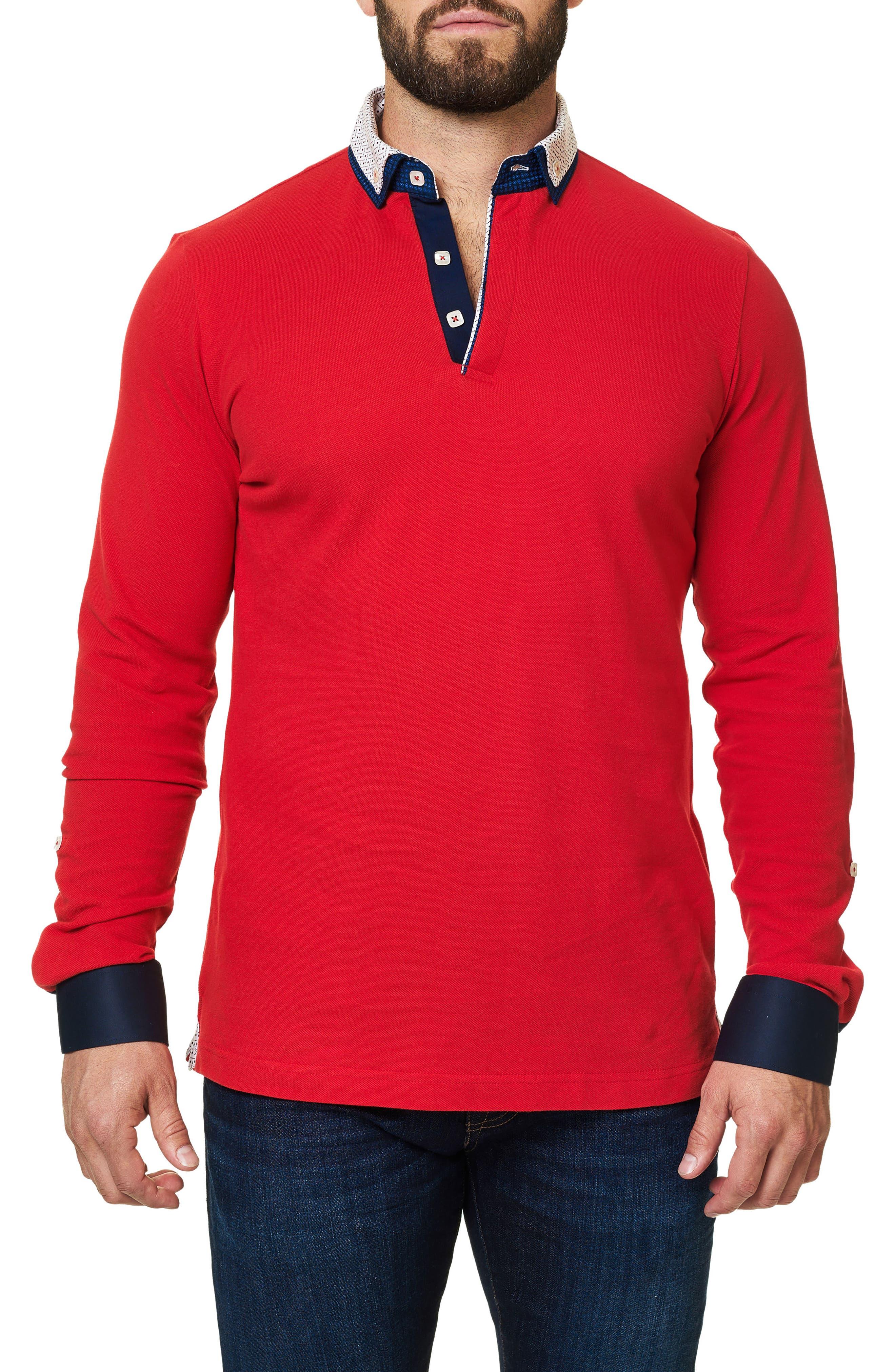 Long Sleeve Polo,                         Main,                         color, 610