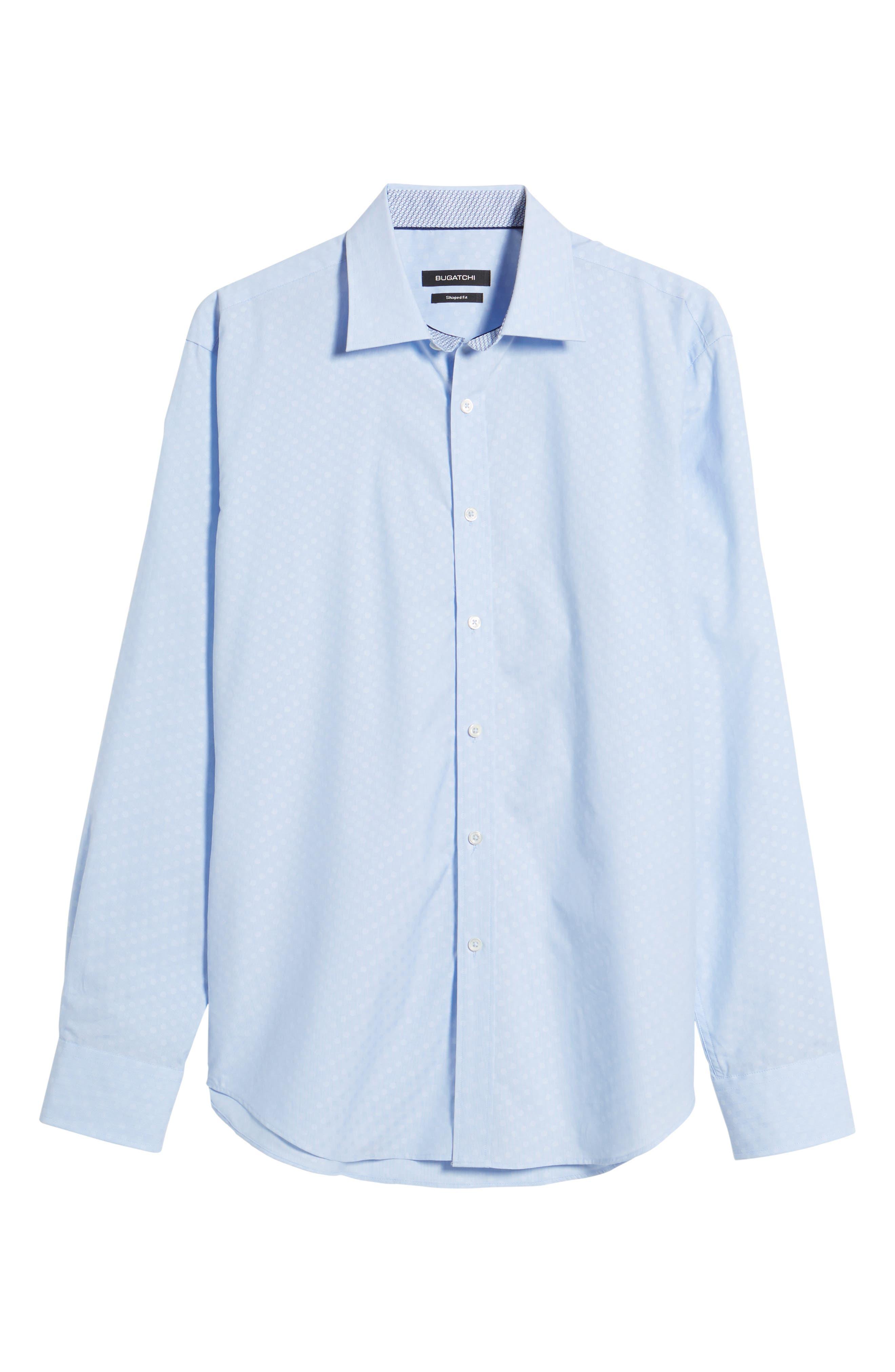 Shaped Fit Tonal Dots Sport Shirt,                             Alternate thumbnail 6, color,                             459