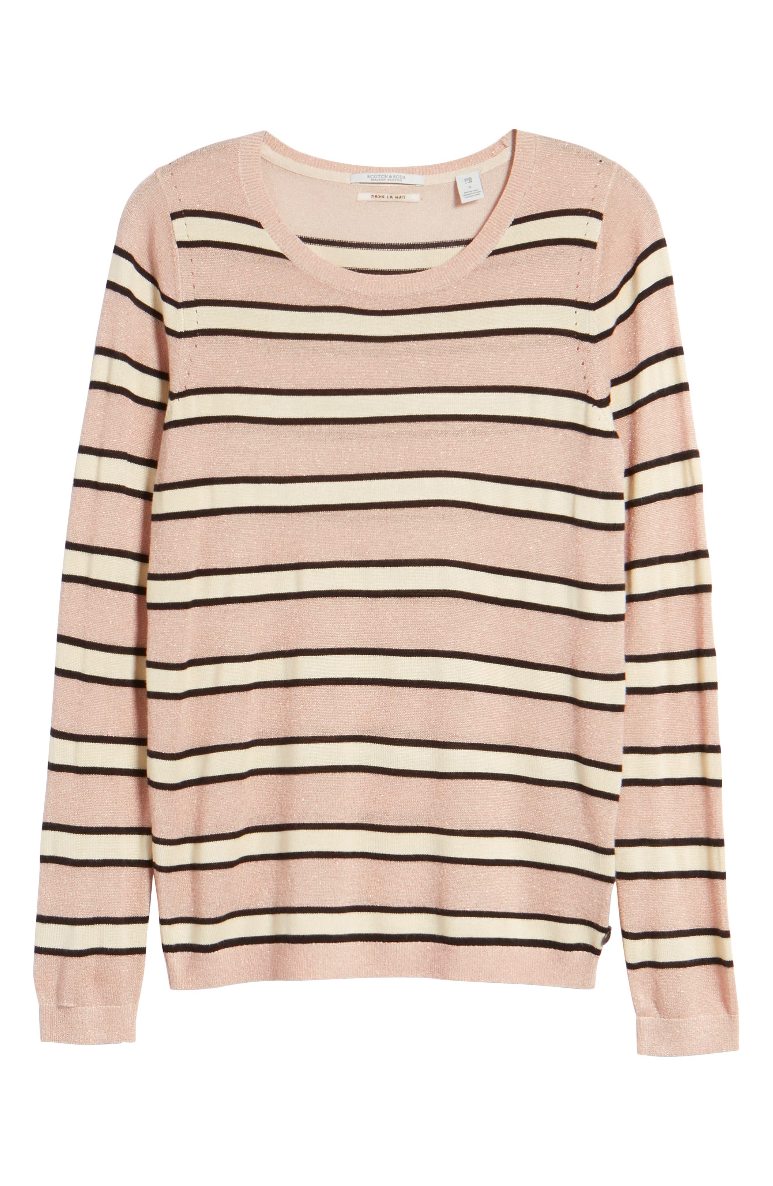 Stripe Sweater,                             Alternate thumbnail 6, color,                             650