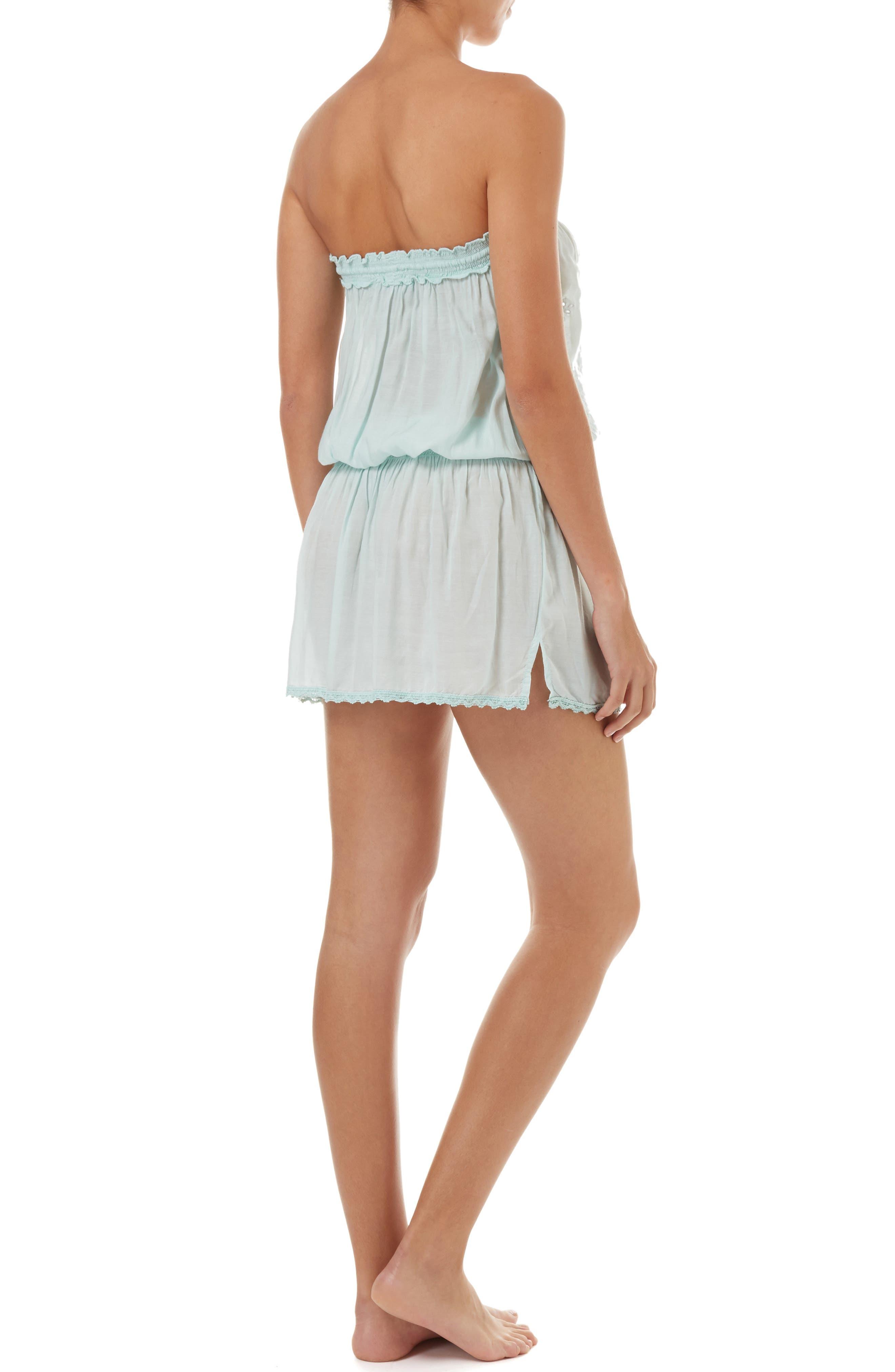 MELISSA ODABASH,                             Fruley Cover-Up Dress,                             Alternate thumbnail 2, color,                             MINT/ WHITE