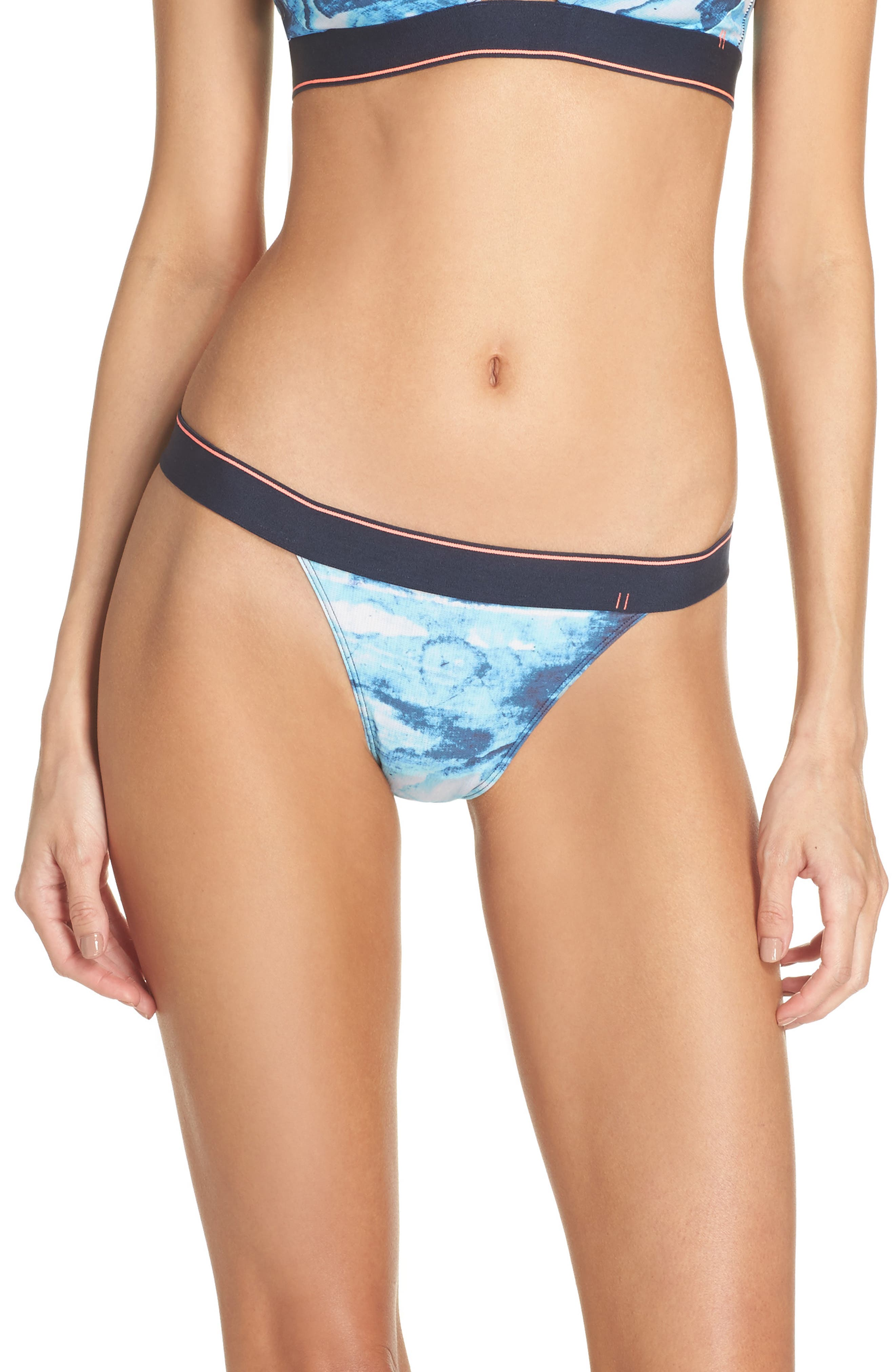 Tropic Storm Bikini,                         Main,                         color, NAVY