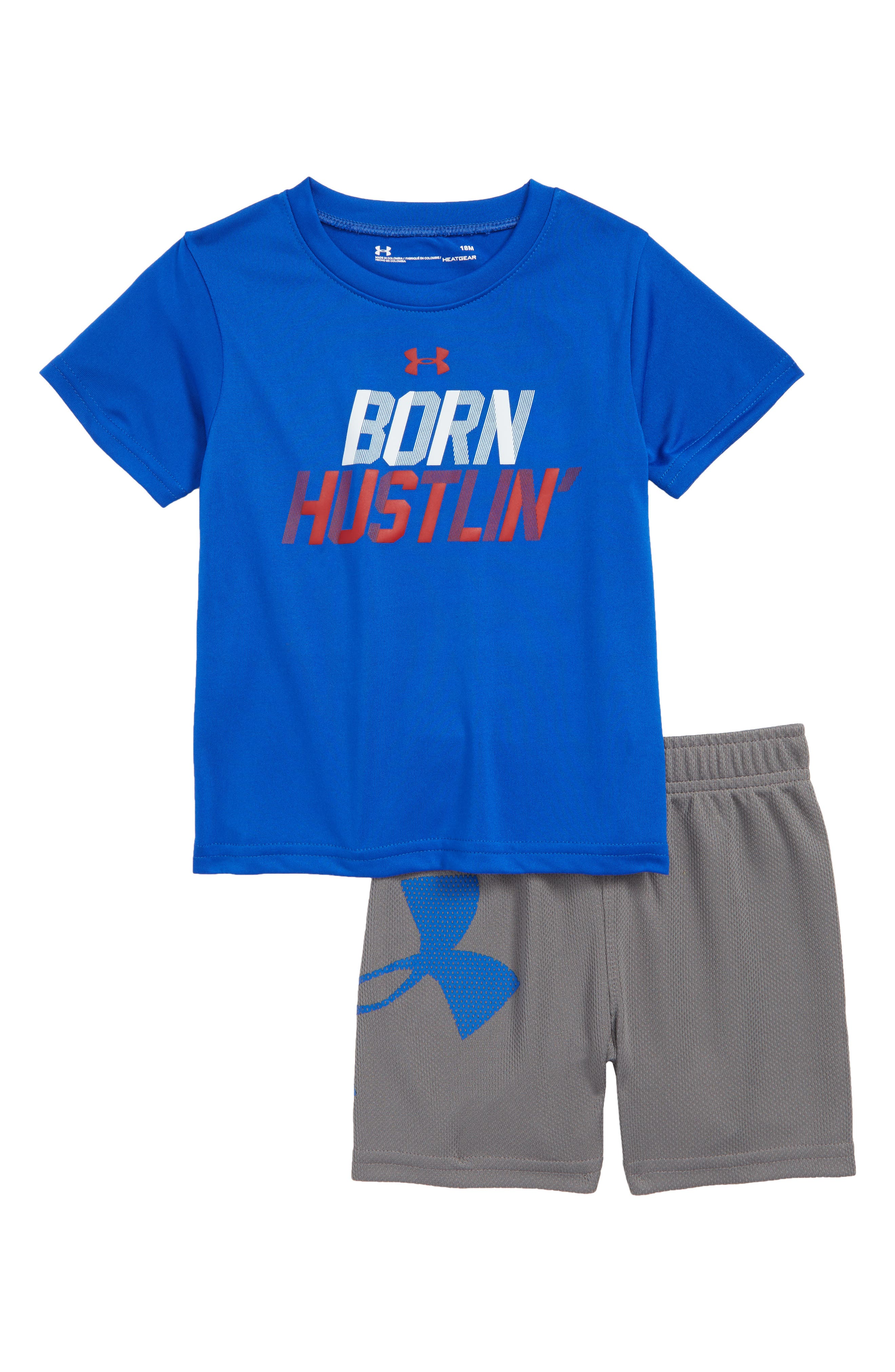 Born Hustlin T-Shirt & Shorts,                             Main thumbnail 1, color,                             420