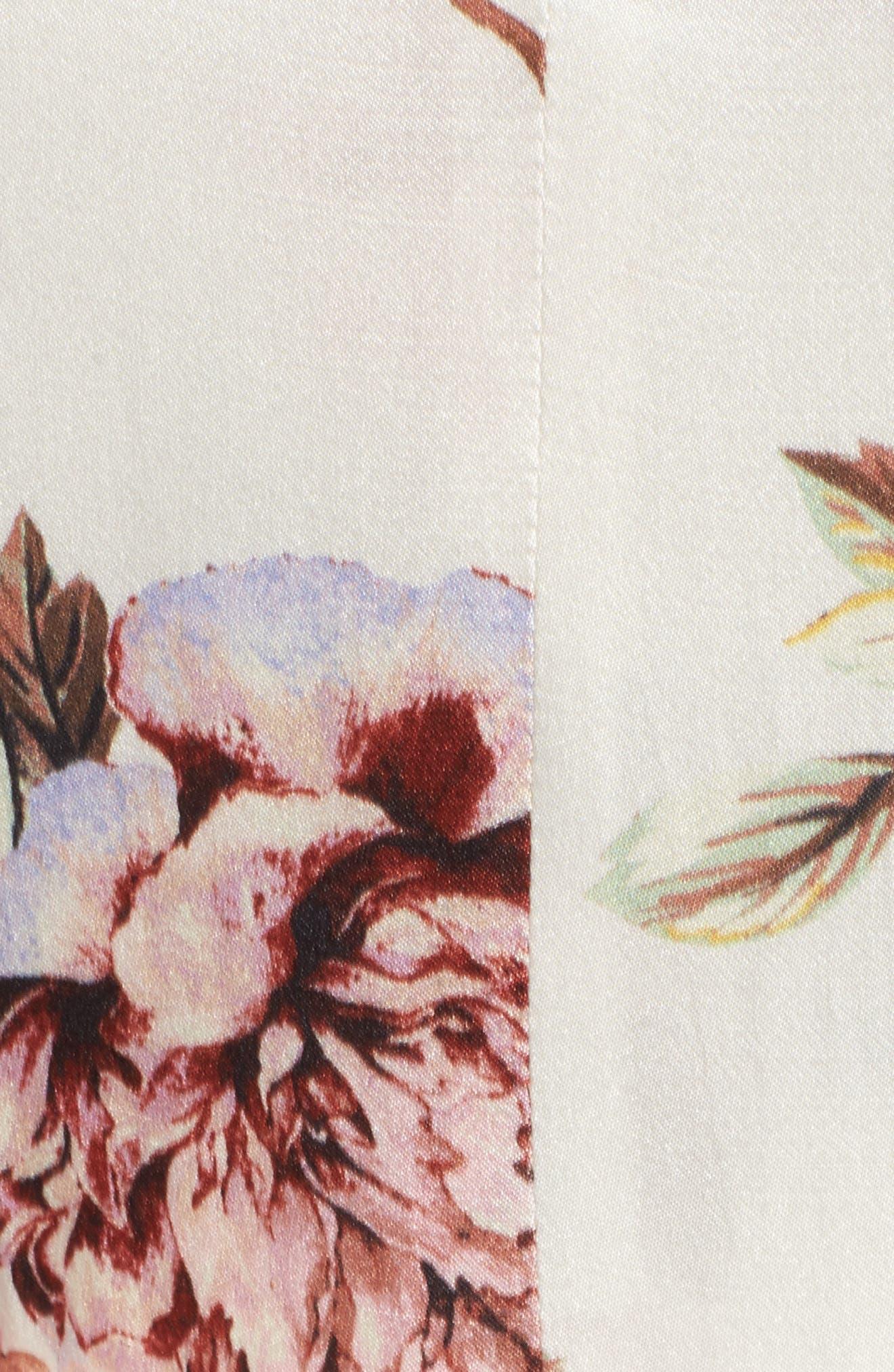 Clara Ruffle Dress,                             Alternate thumbnail 5, color,                             100