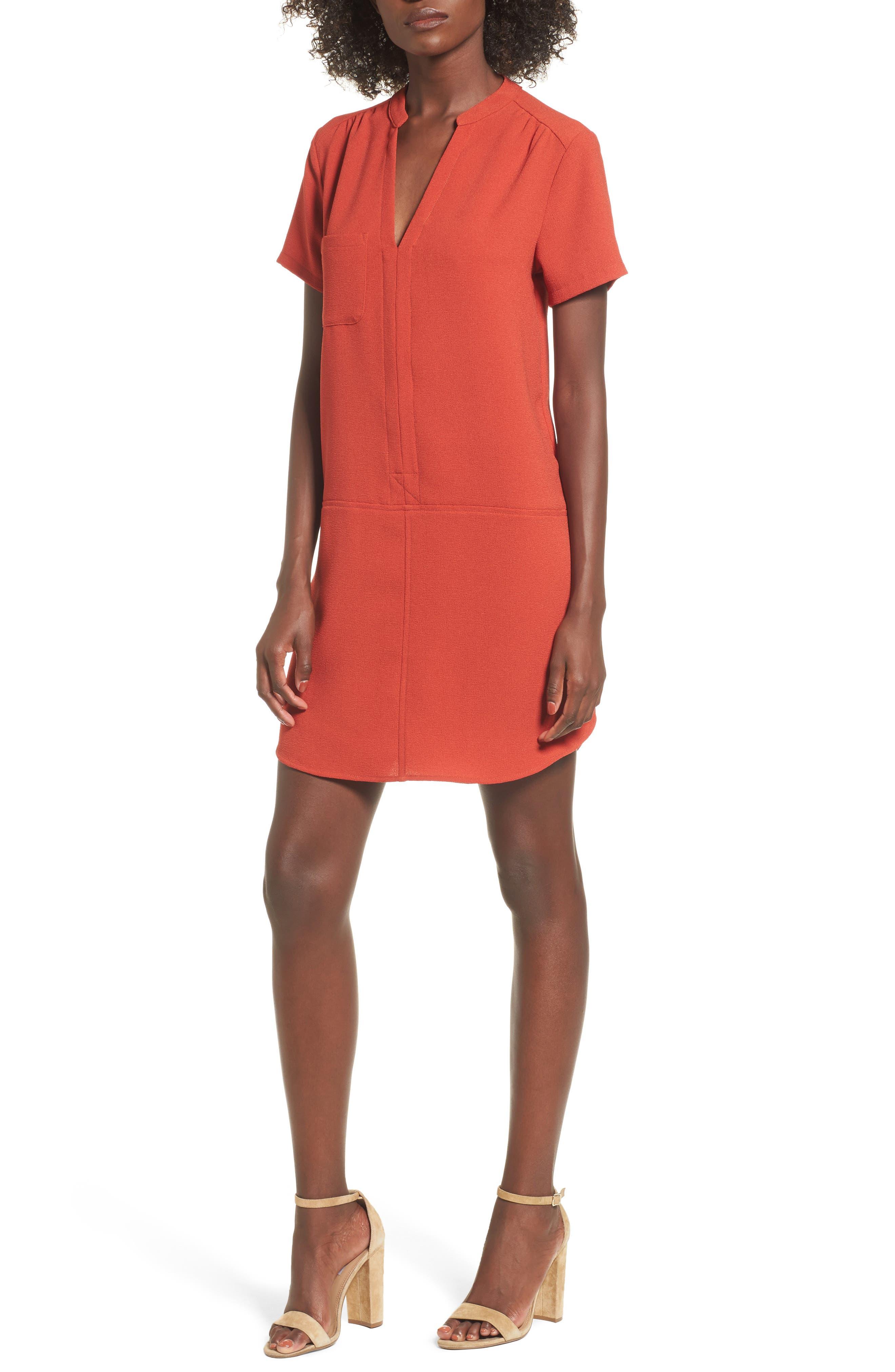 Hailey Crepe Dress,                             Main thumbnail 4, color,