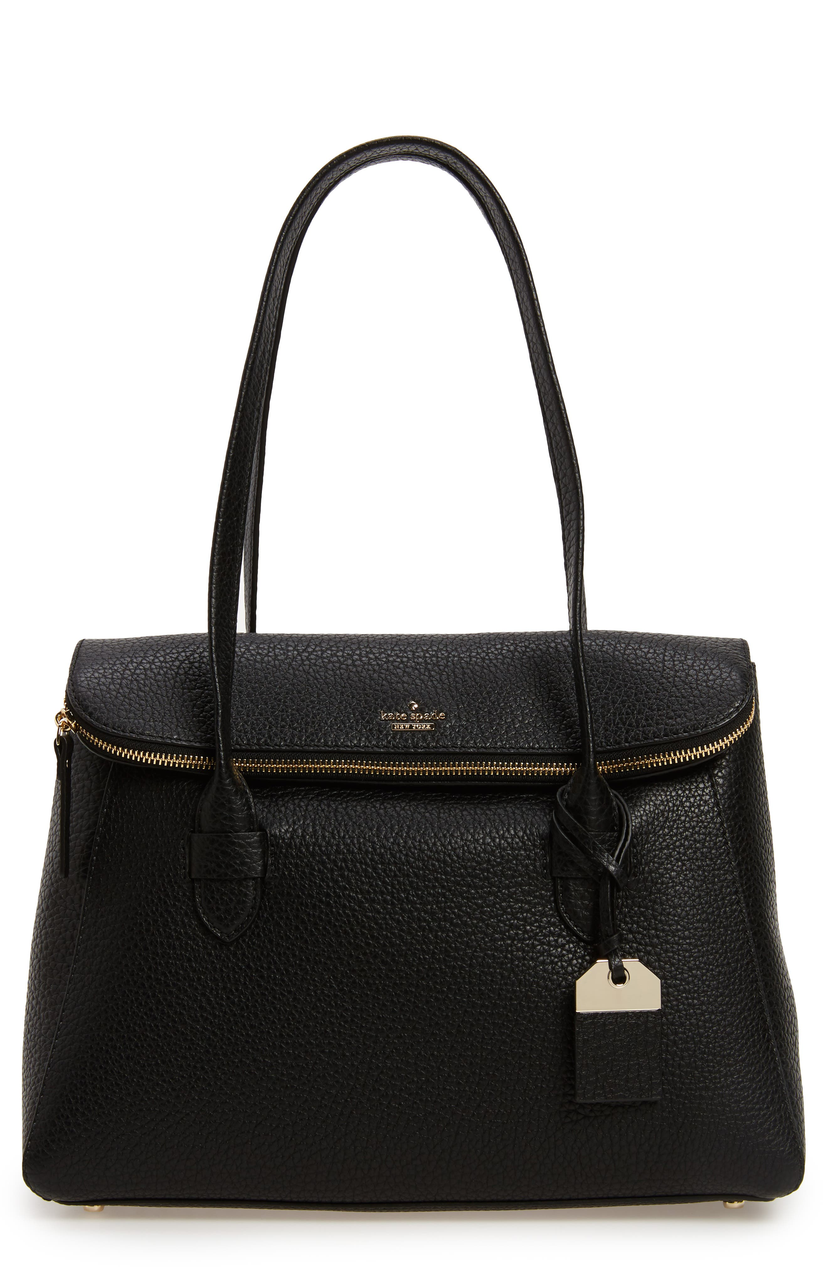 carter street - laurelle leather tote,                             Main thumbnail 1, color,                             001
