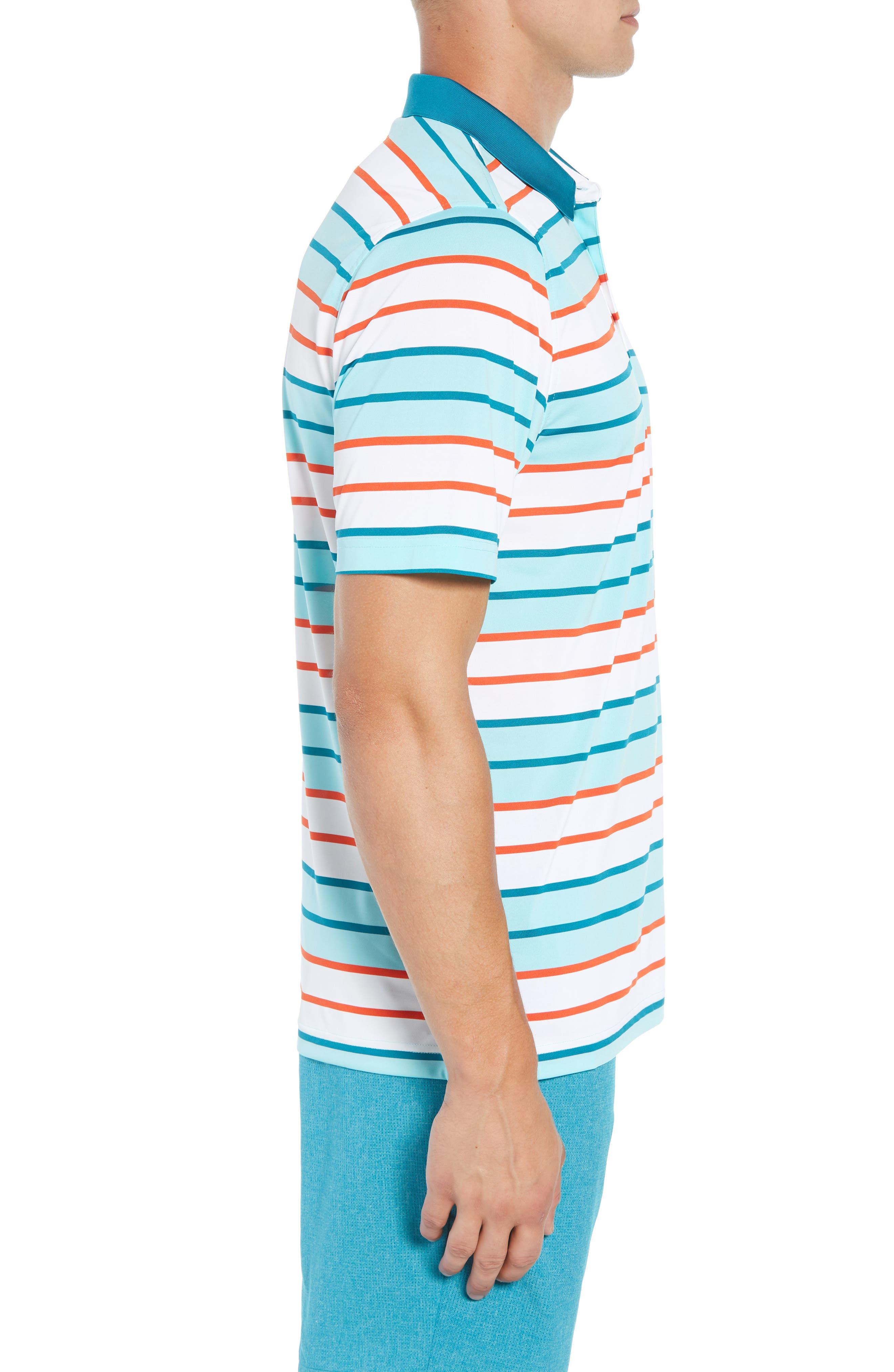 Cody DryTec Striped Polo,                             Alternate thumbnail 3, color,                             AQUATIC
