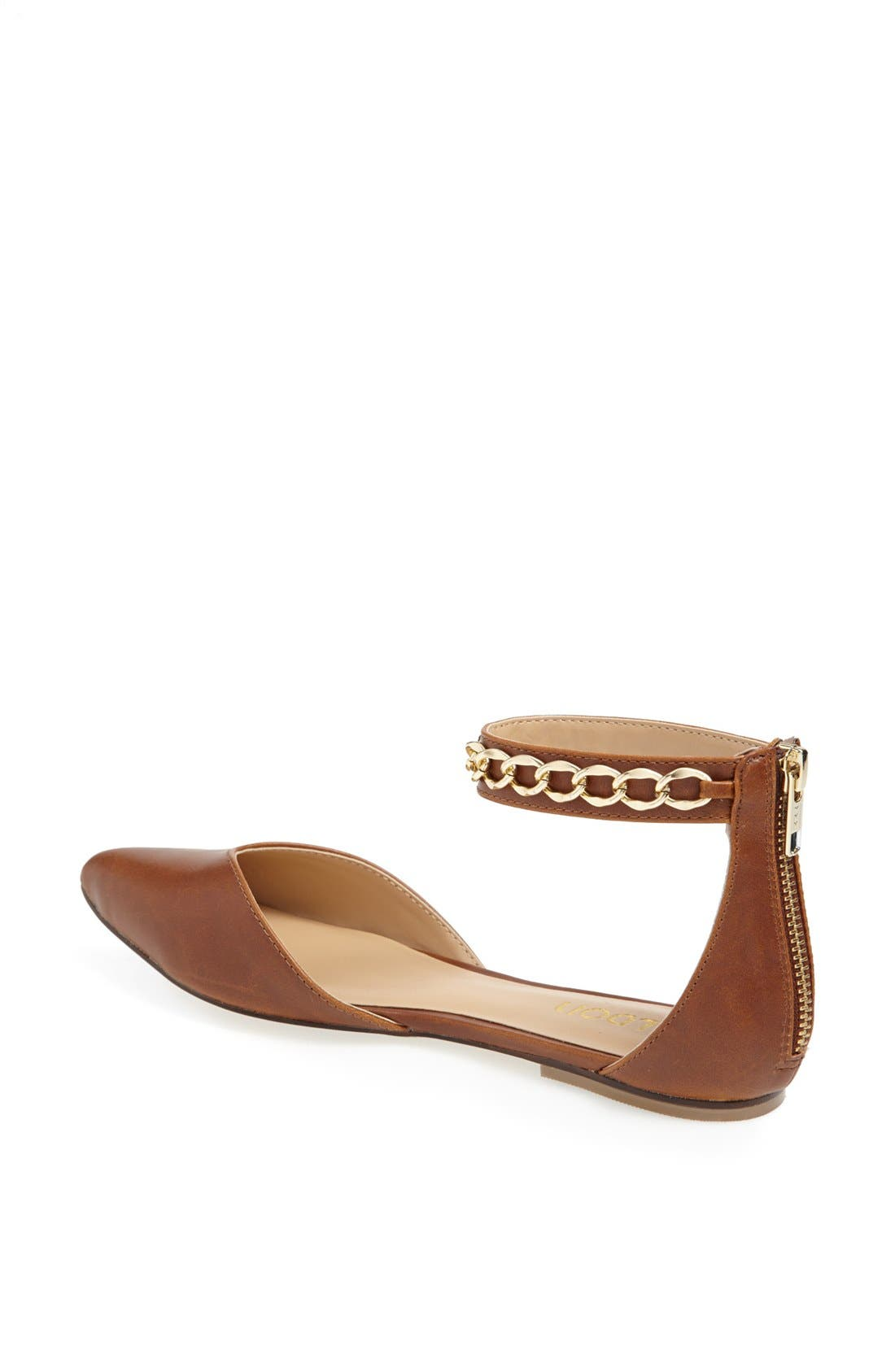 'Anya' Ankle Strap D'Orsay Flat,                             Alternate thumbnail 11, color,