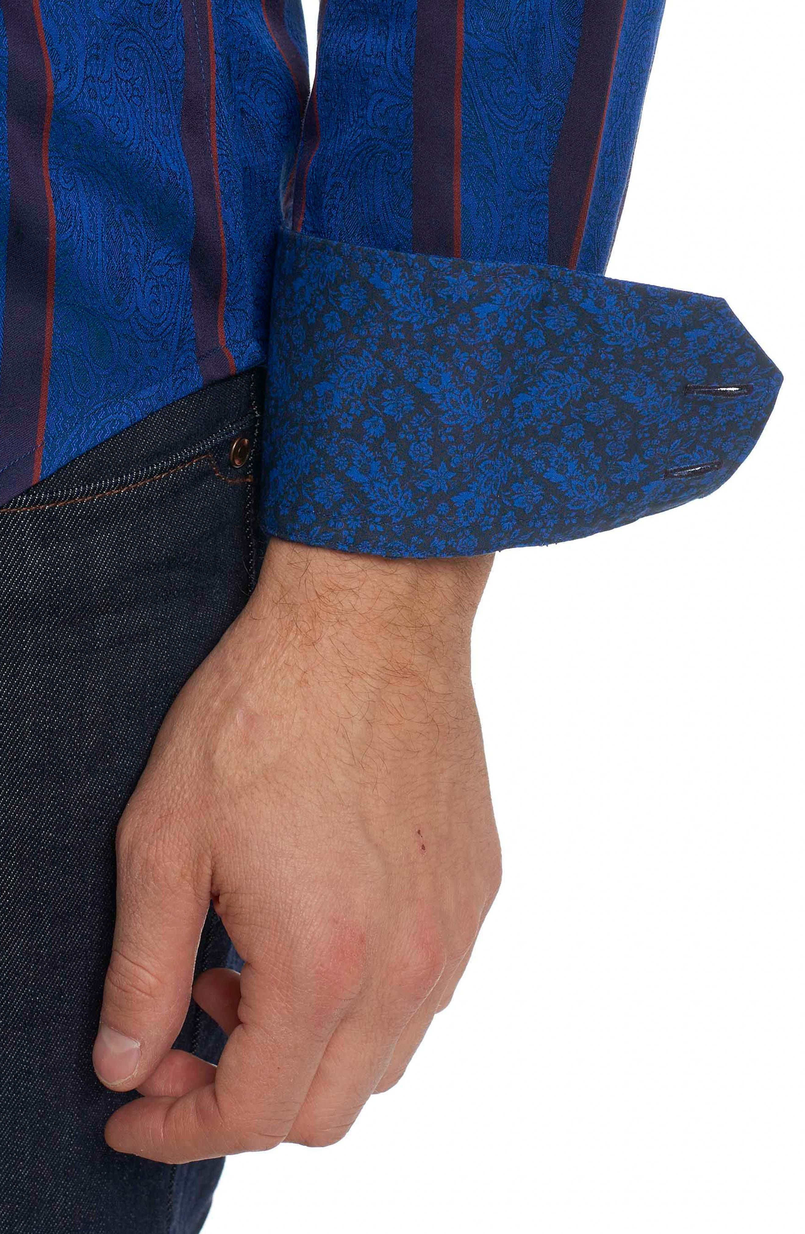 Granby Classic Fit Stripe Paisley Sport Shirt,                             Alternate thumbnail 2, color,                             432