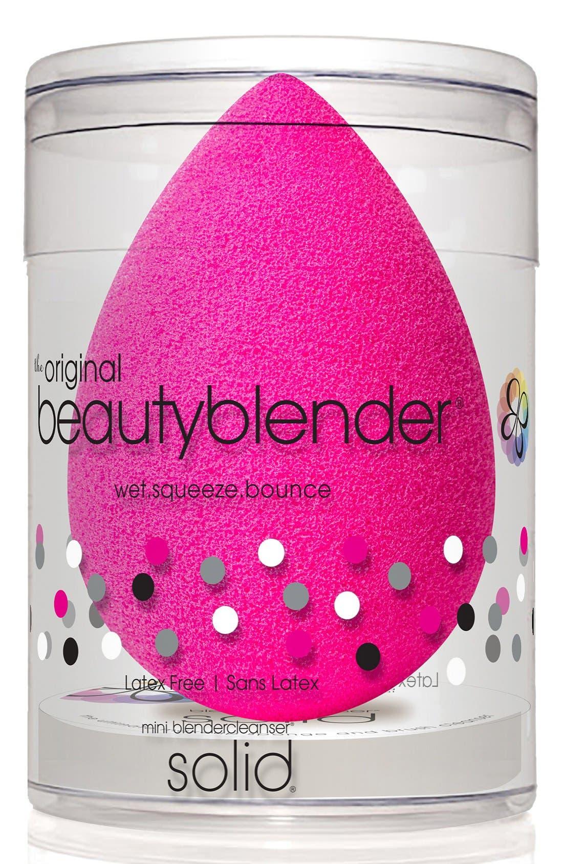 BEAUTYBLENDER<SUP>®</SUP>,                             Original Makeup Sponge Applicator & Cleanser Duo,                             Alternate thumbnail 4, color,                             NO COLOR