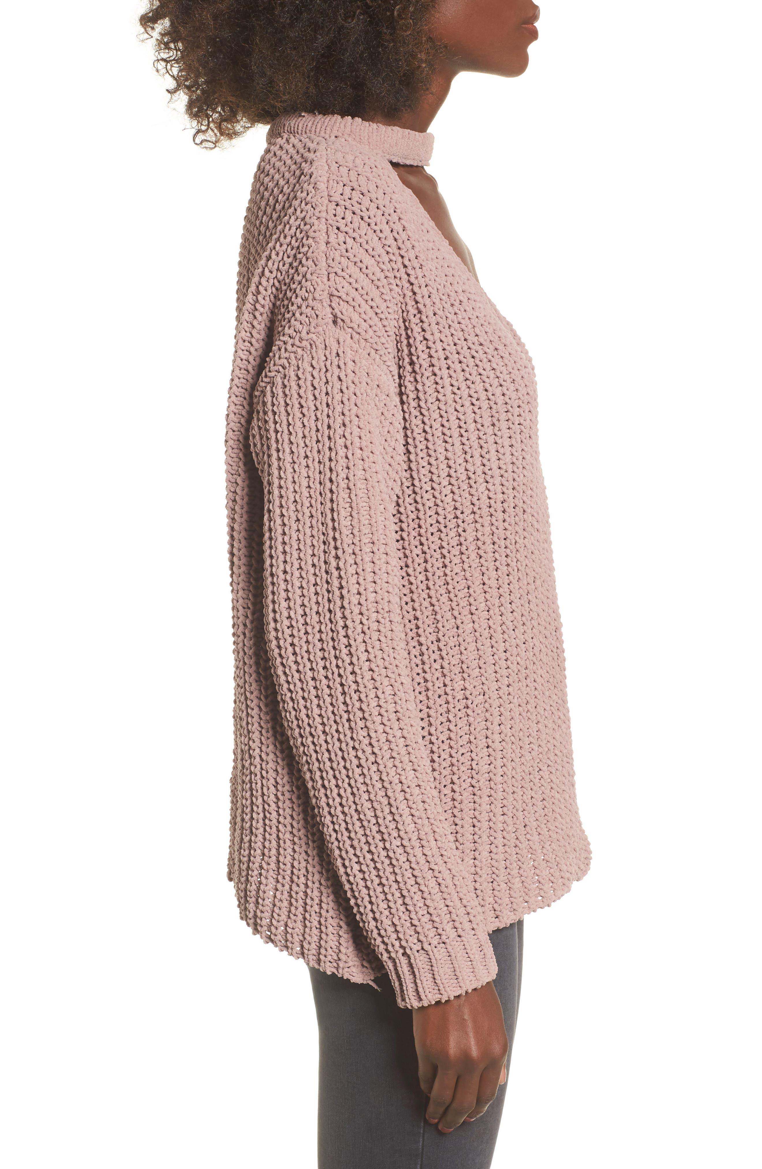 Mary Lous Choker Sweater,                             Alternate thumbnail 6, color,