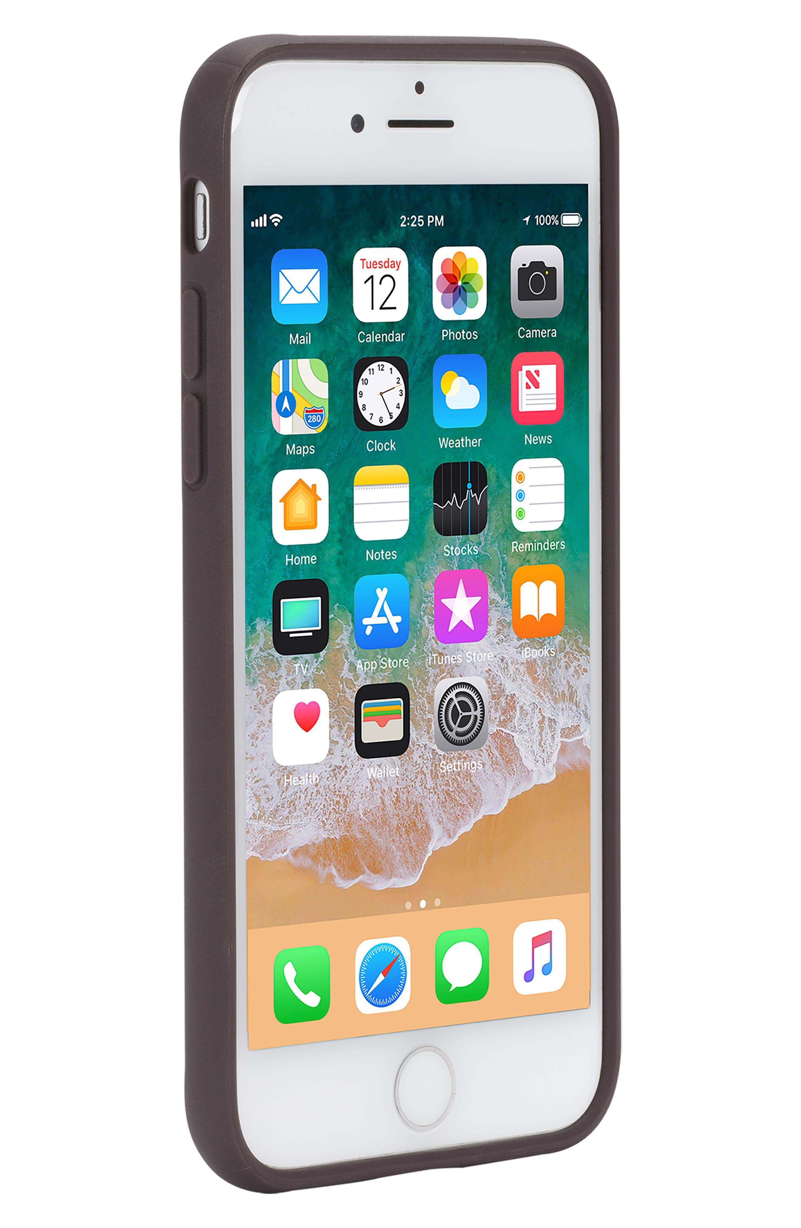 Pop iPhone 7/8 Case,                             Alternate thumbnail 4, color,                             DEEP TAUPE