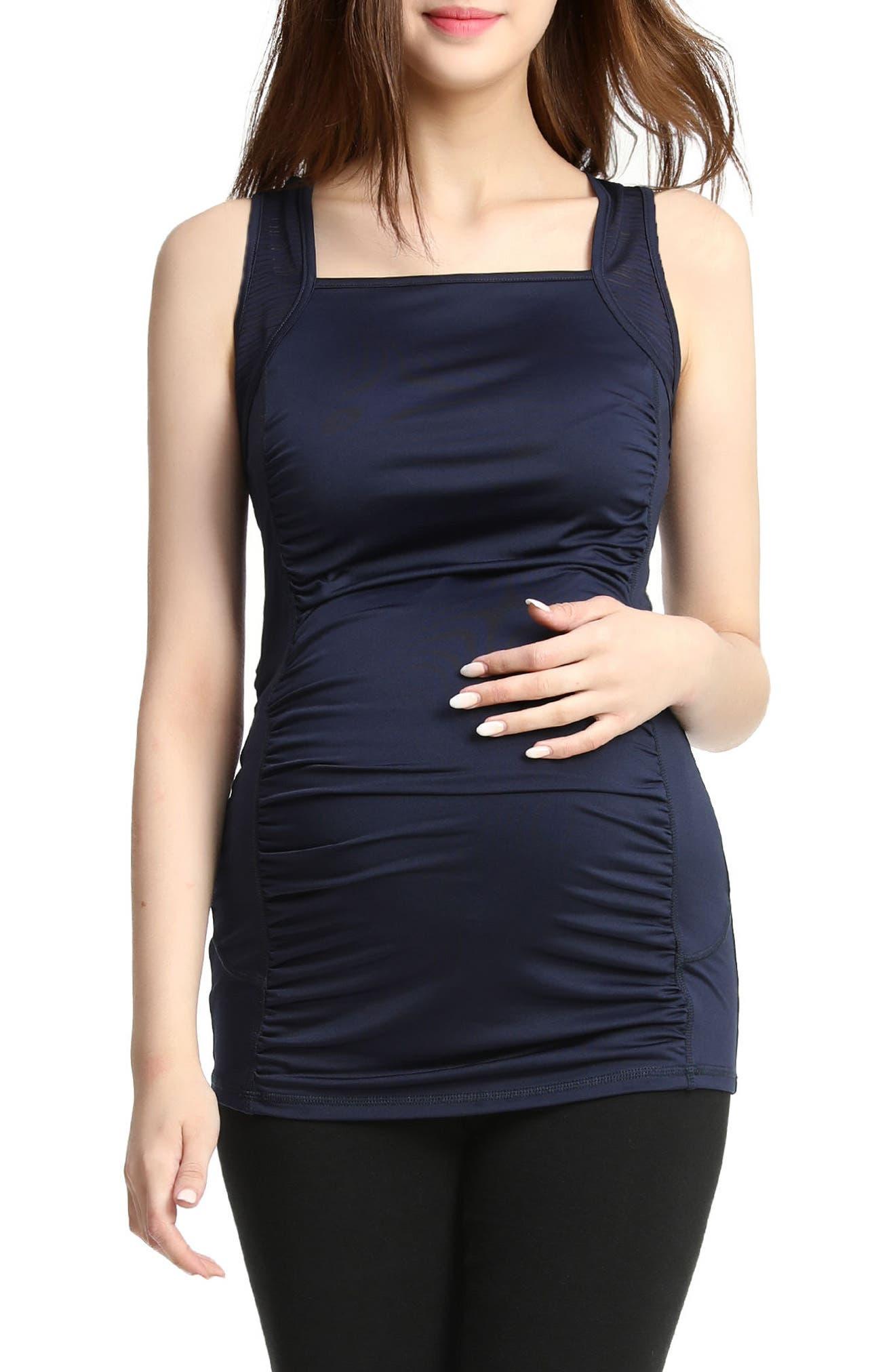 Serena Maternity Performance Tank,                             Main thumbnail 1, color,                             NAVY