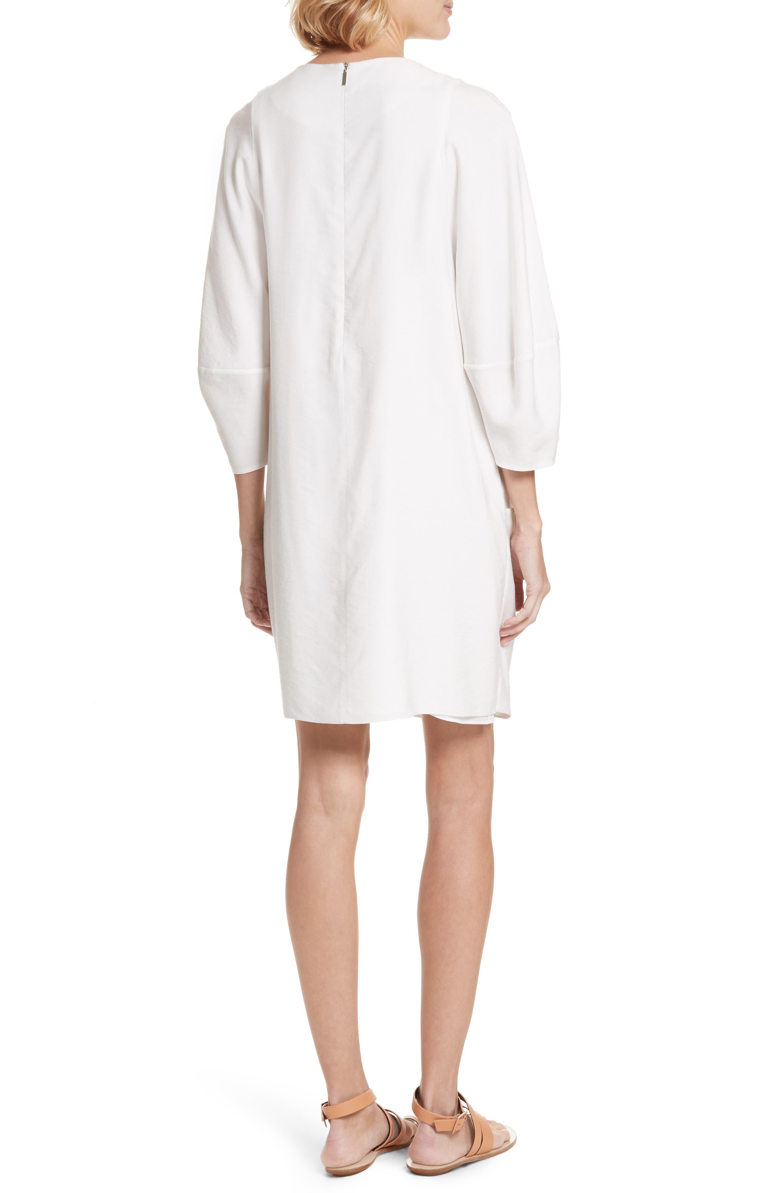Asymmetrical Flap Front Dress,                             Alternate thumbnail 2, color,                             100