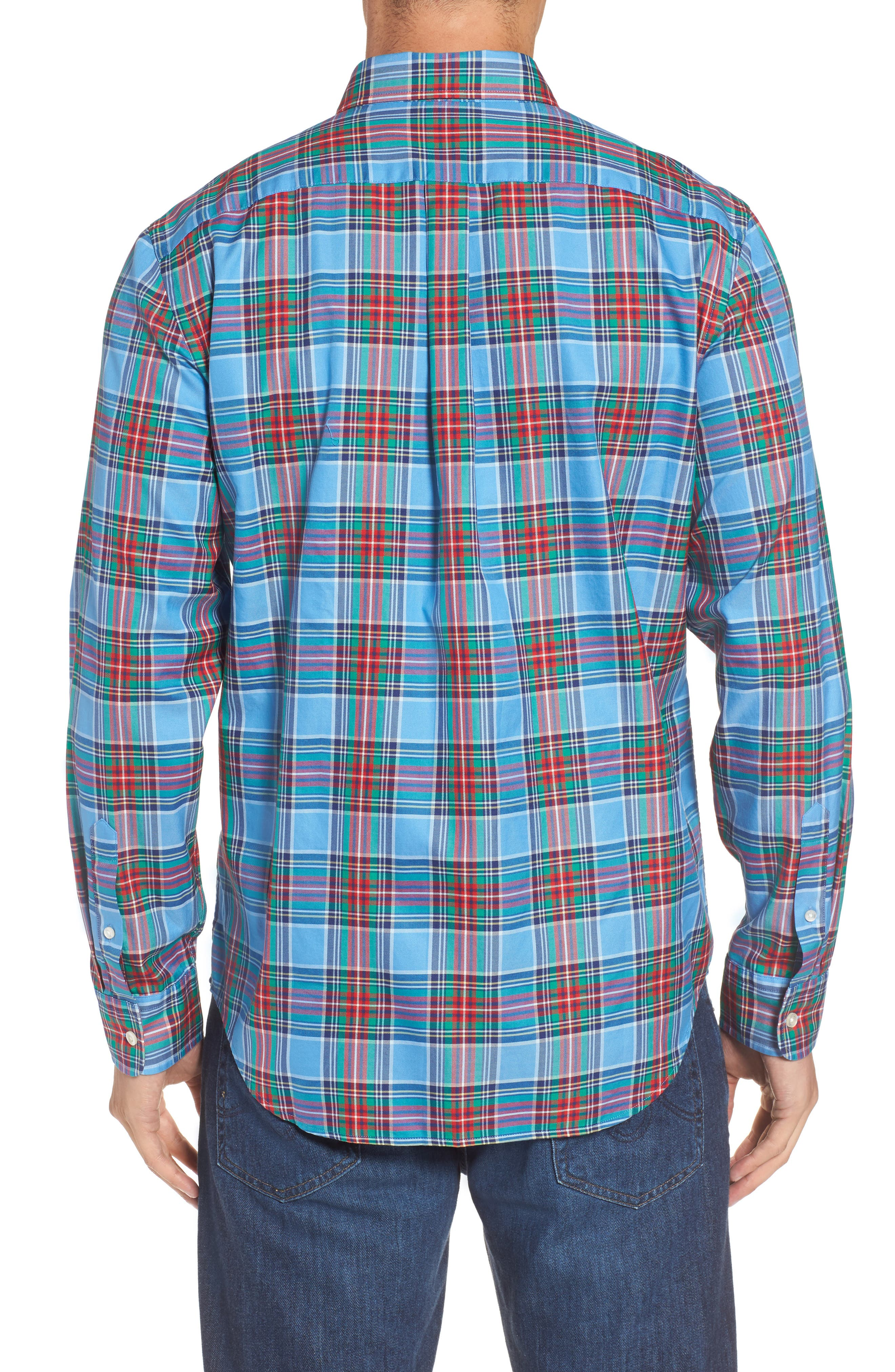 Tucker Belmont Classic Fit Plaid Sport Shirt,                             Alternate thumbnail 2, color,                             447