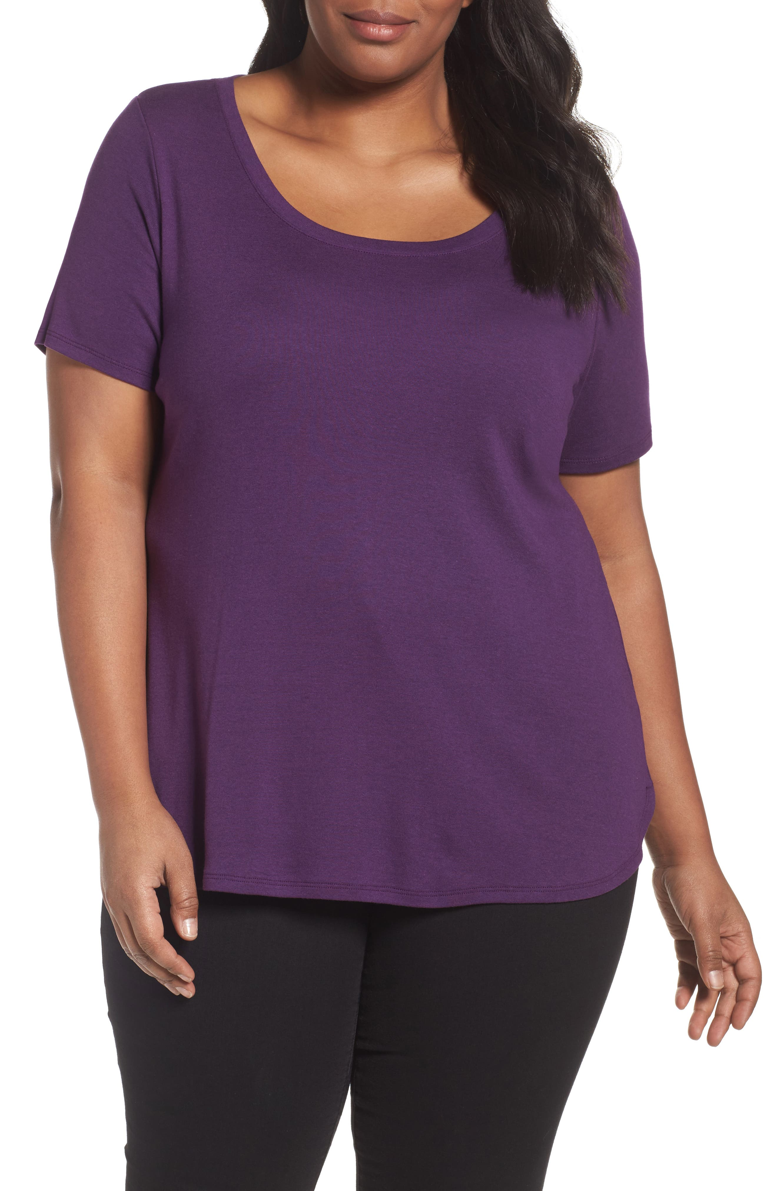 Scoop Neck Tee,                             Main thumbnail 9, color,