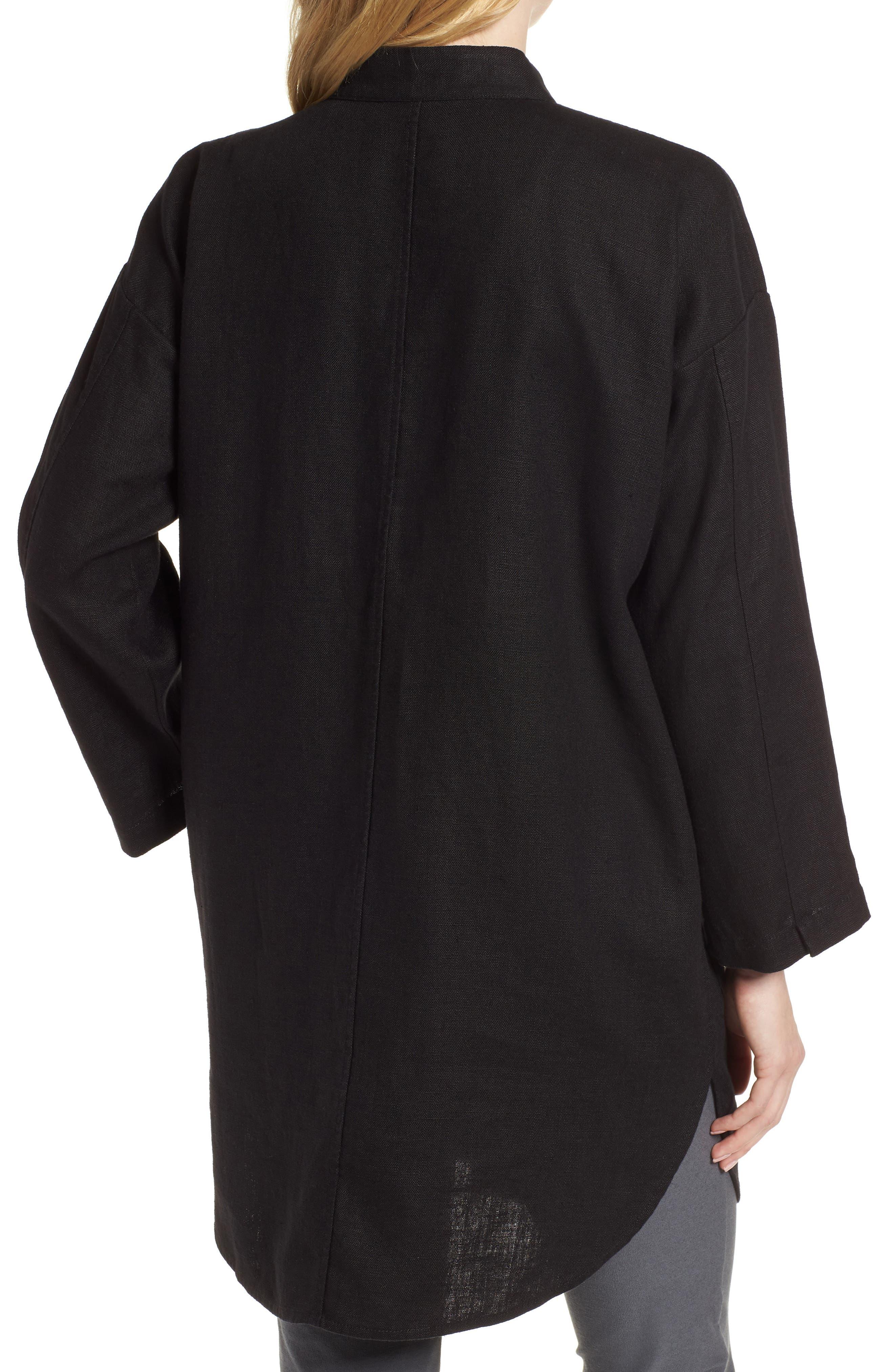 Organic Linen Jacket,                             Alternate thumbnail 2, color,                             001