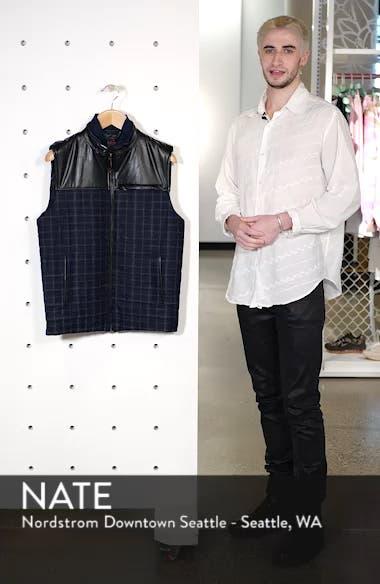 McClement Leather Trim Wool Blend Vest, sales video thumbnail