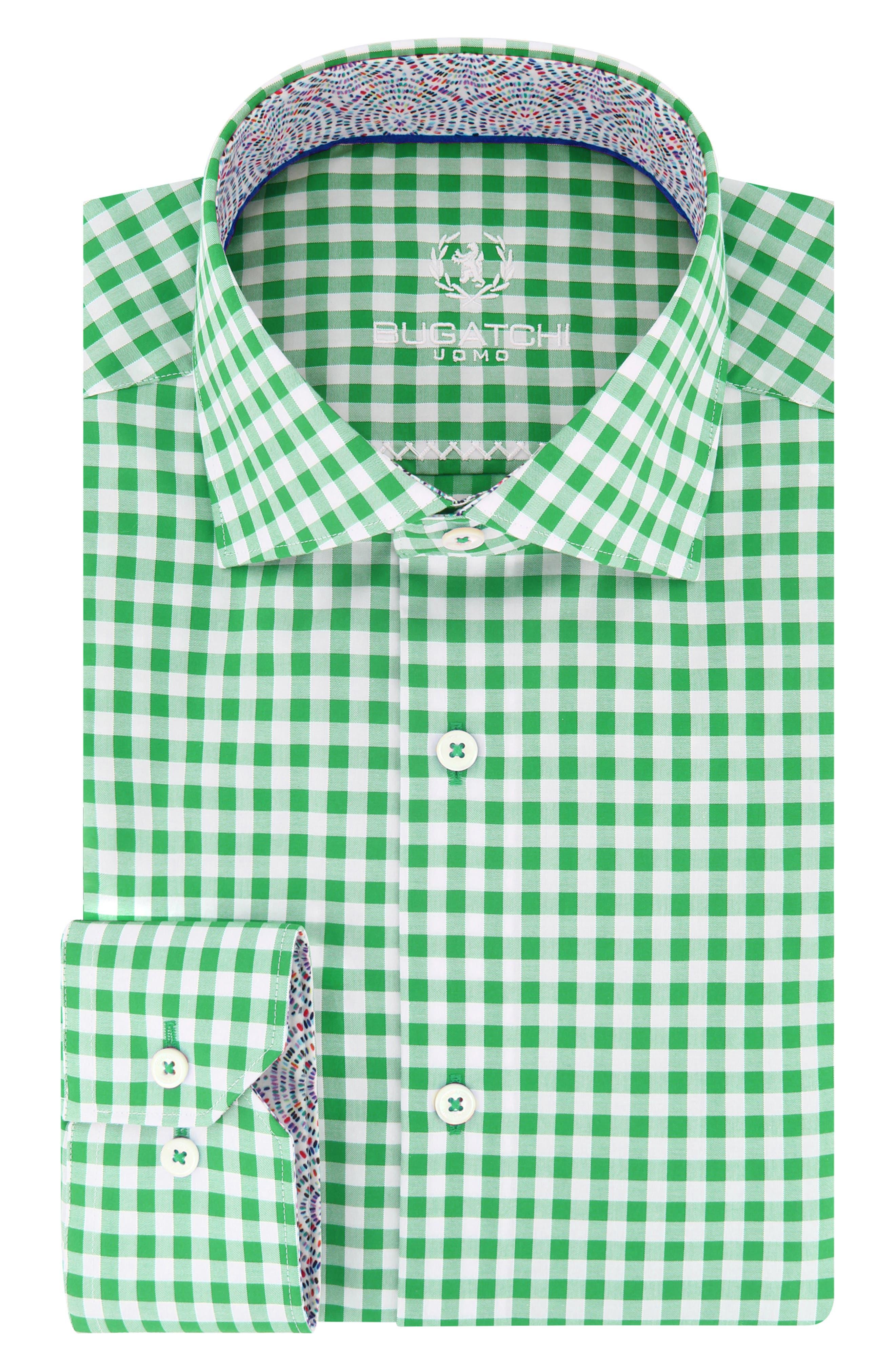 Trim Fit Check Dress Shirt,                         Main,                         color,