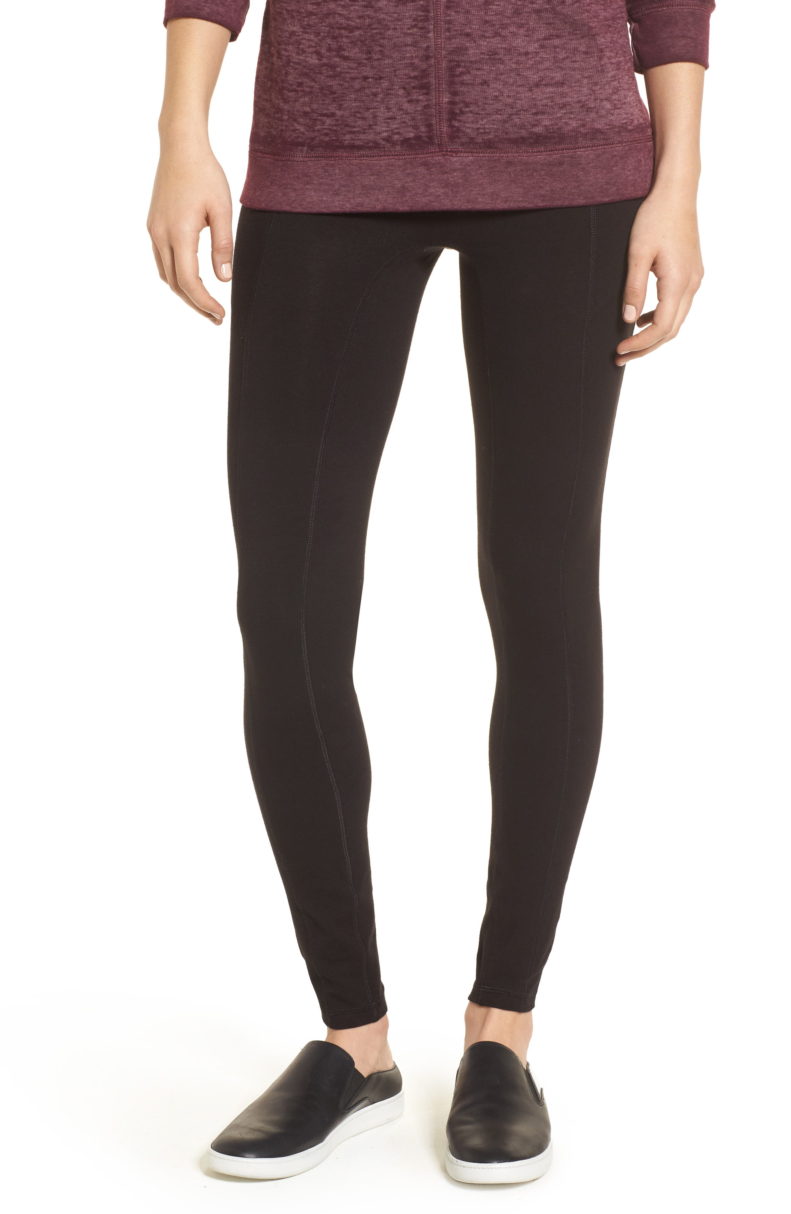 HUE Hold It High Waist Leggings, Main, color, 001