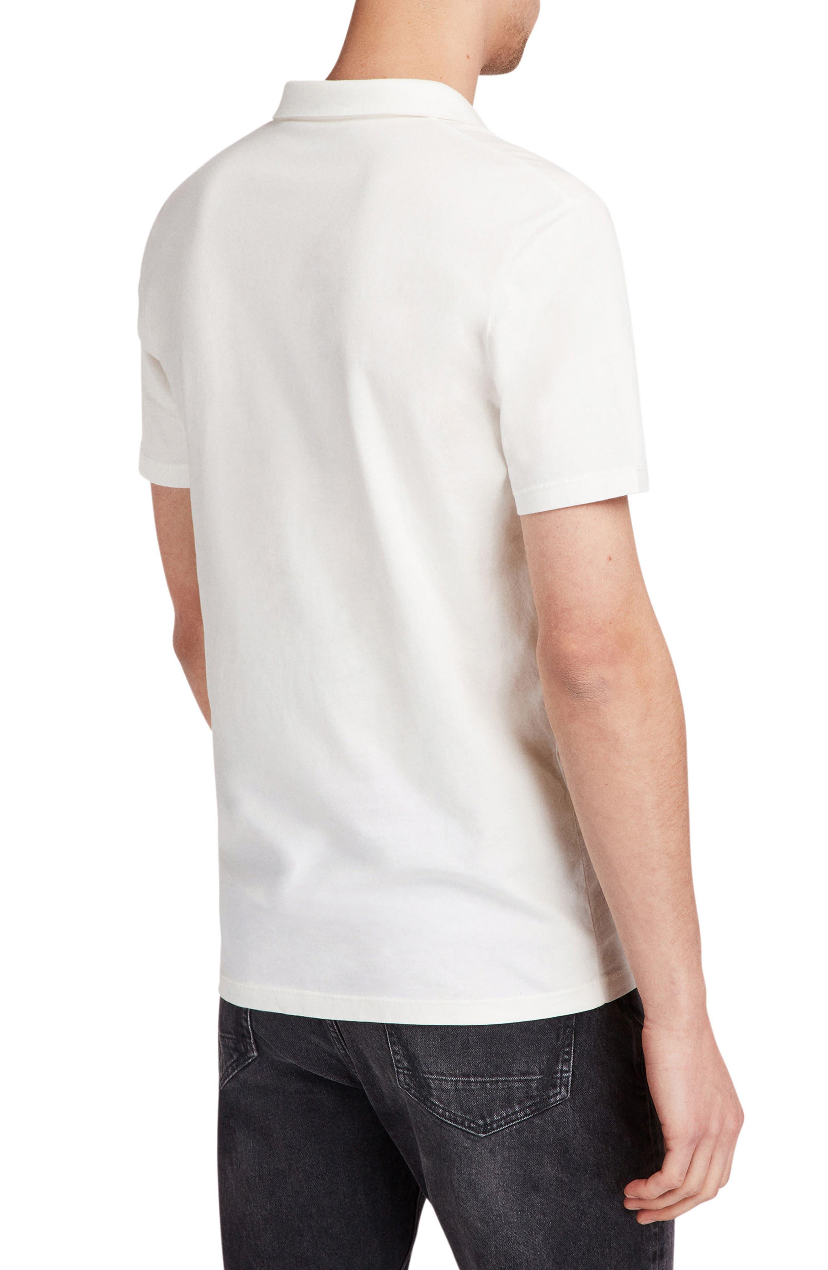 Ossage Slim Fit Polo,                             Alternate thumbnail 2, color,                             CHALK WHITE