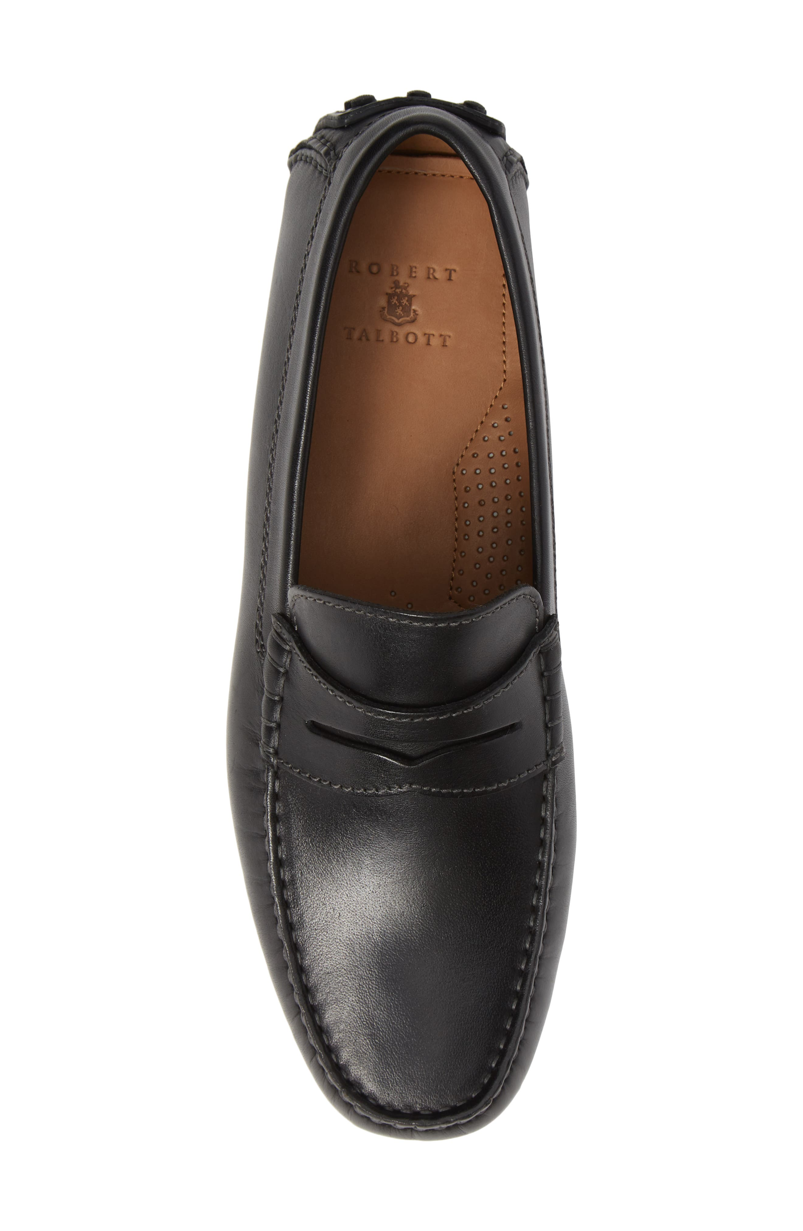 Le Mans Penny Driving Moccasin,                             Alternate thumbnail 5, color,                             BLACK LEATHER
