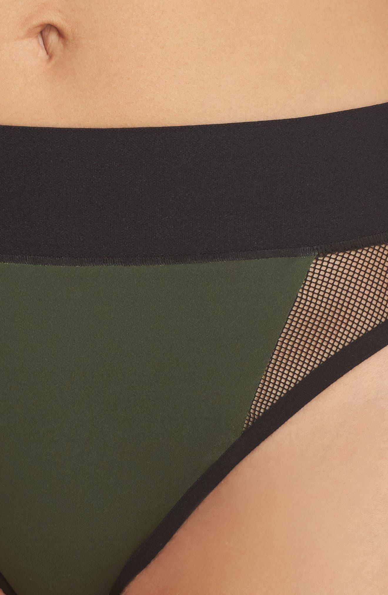 Reef Sport Mesh High-Waist Bikini Bottoms,                             Alternate thumbnail 4, color,                             302