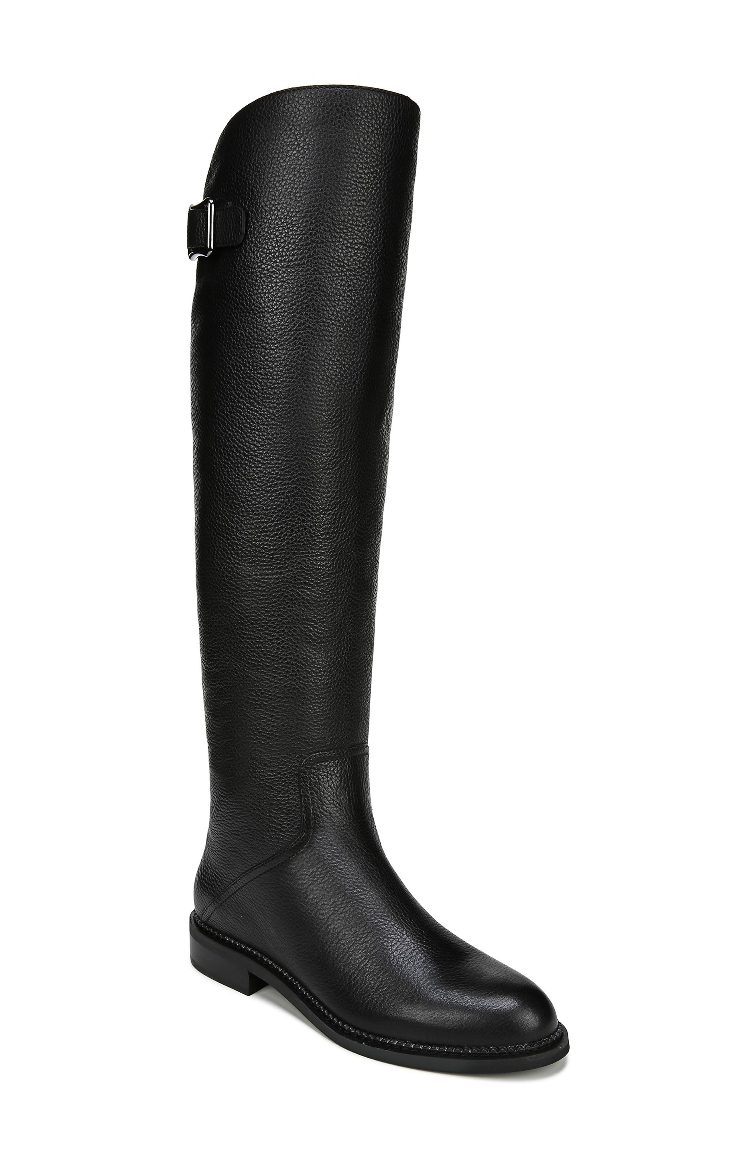 Halloway Knee High Boot,                             Main thumbnail 1, color,                             BLACK LEATHER