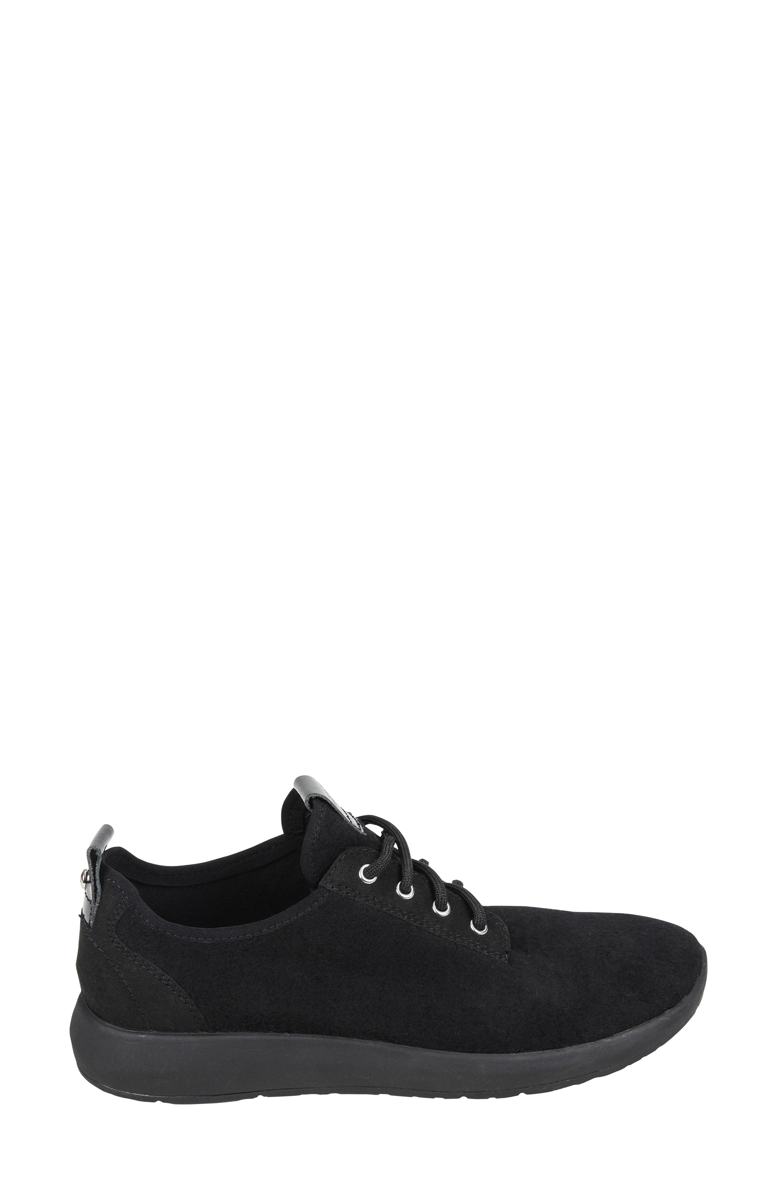 Boomer Sneaker,                             Alternate thumbnail 3, color,                             BLACK FABRIC