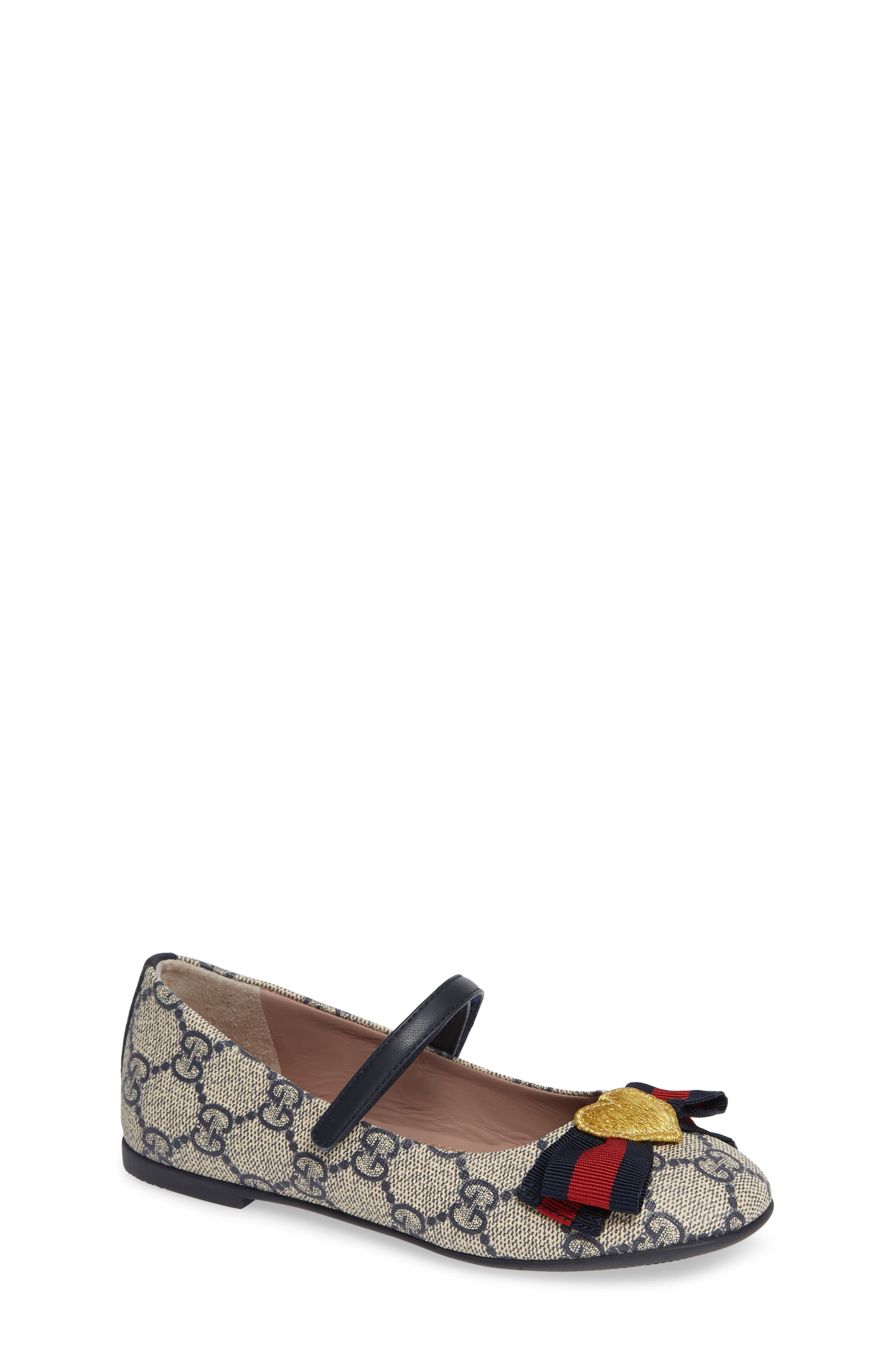 'Erin' Mary Jane Flat,                         Main,                         color, BEIGE/BLUE