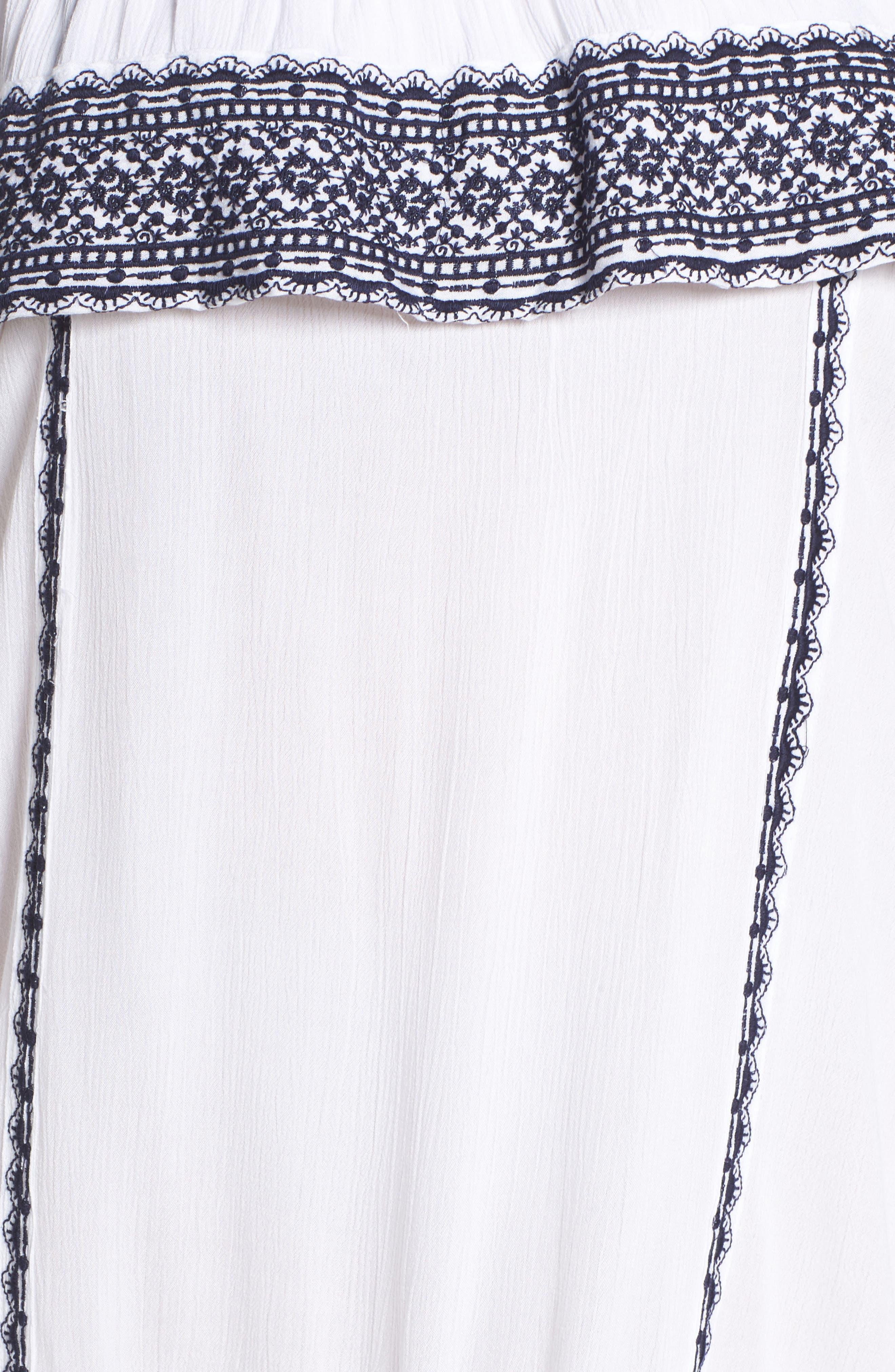 Gavin Ruffle Cover-Up Dress,                             Alternate thumbnail 5, color,                             100