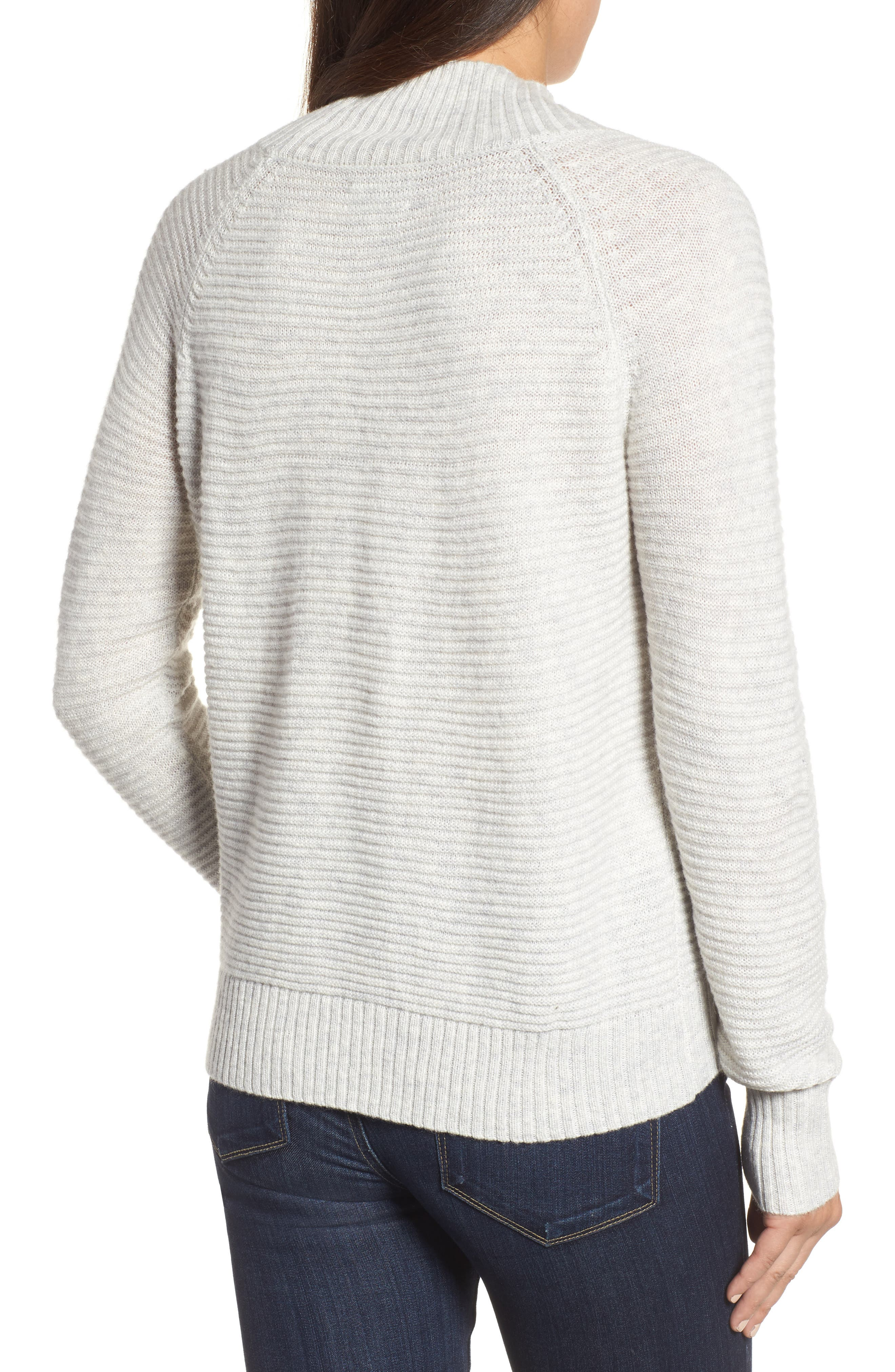 Lace-Up Sweater,                             Alternate thumbnail 3, color,