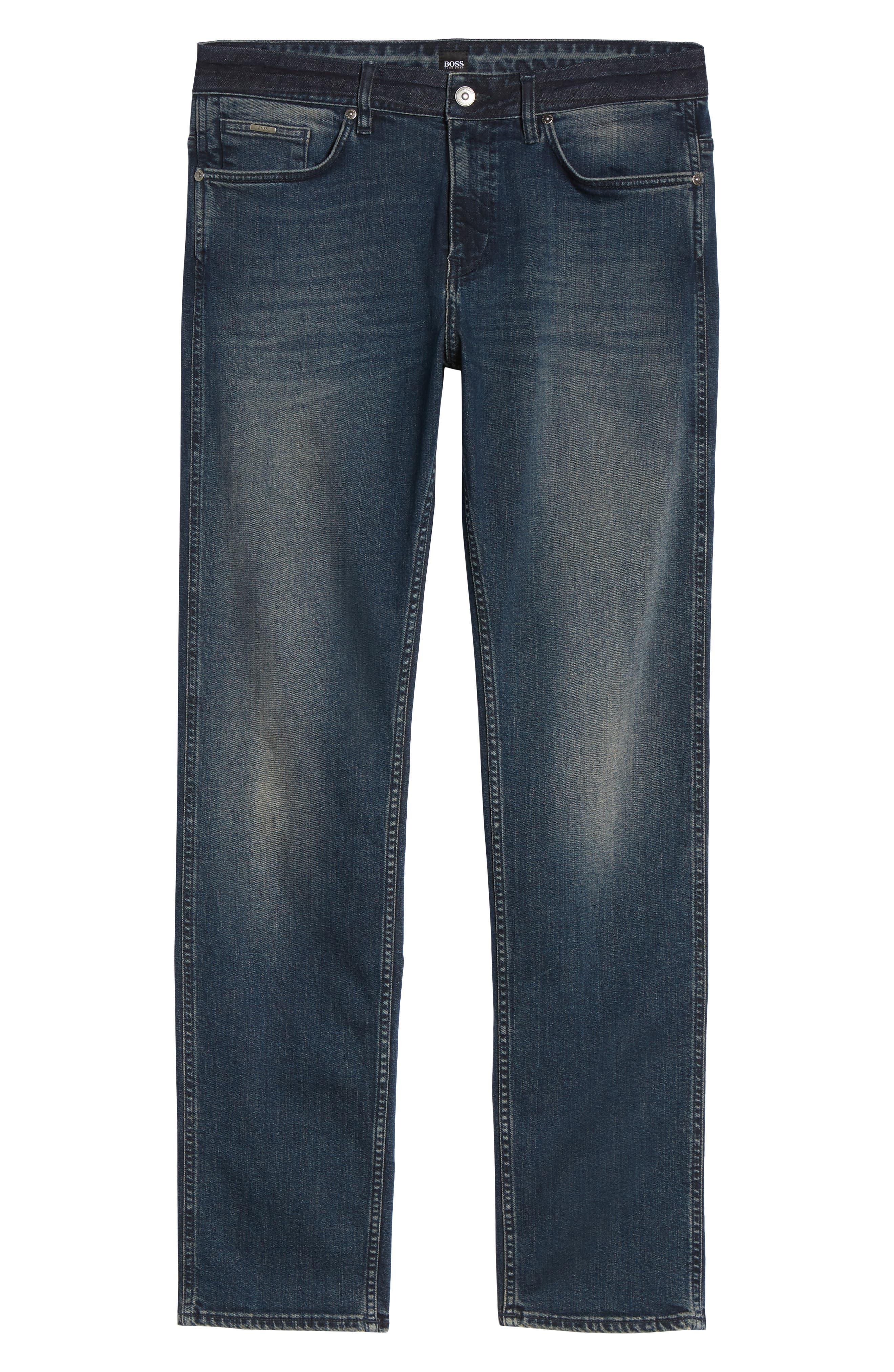 Delaware Slim Fit Jeans,                             Alternate thumbnail 6, color,                             418