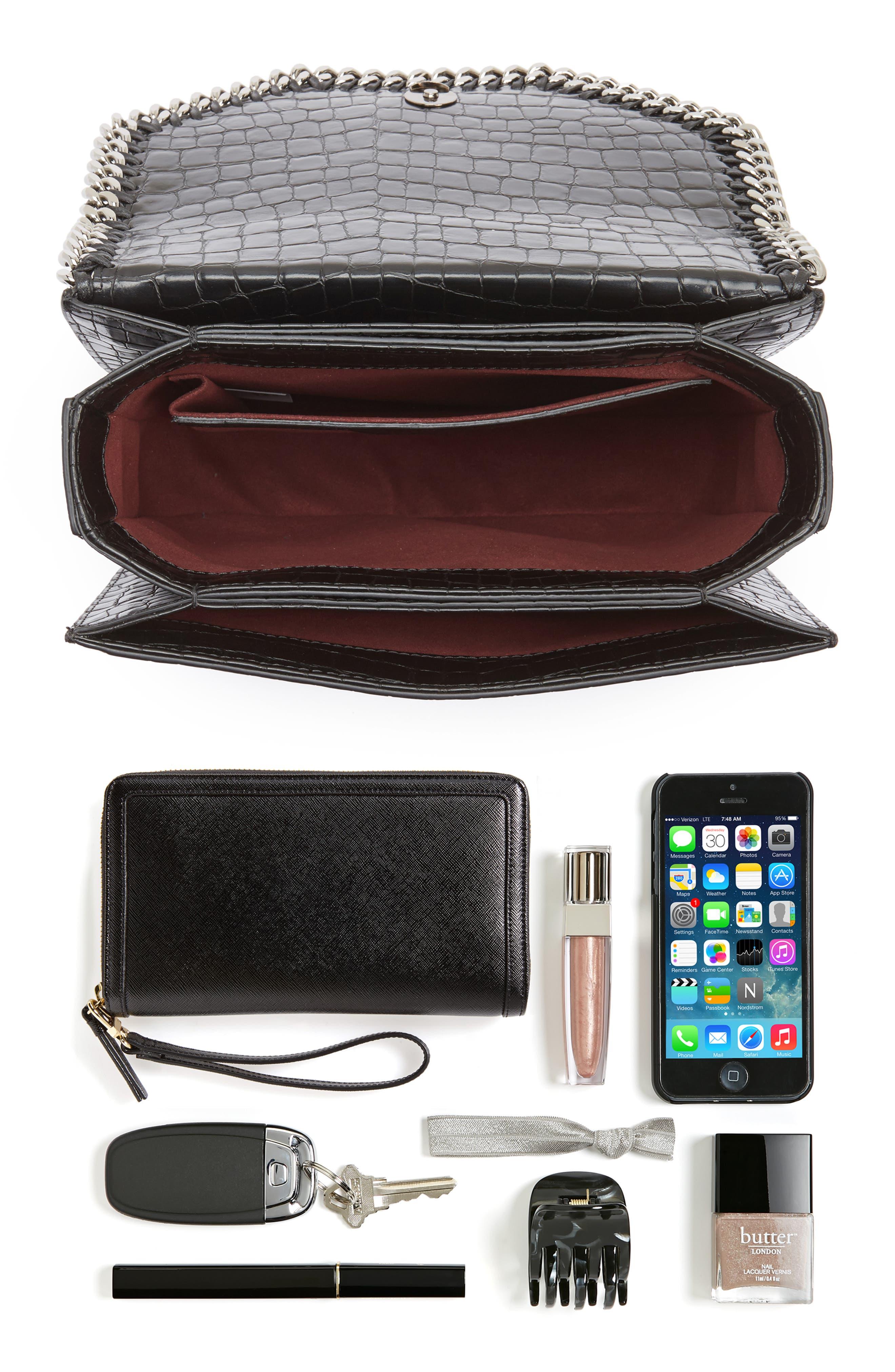 Falabella Box Faux Leather Shoulder Bag,                             Alternate thumbnail 13, color,
