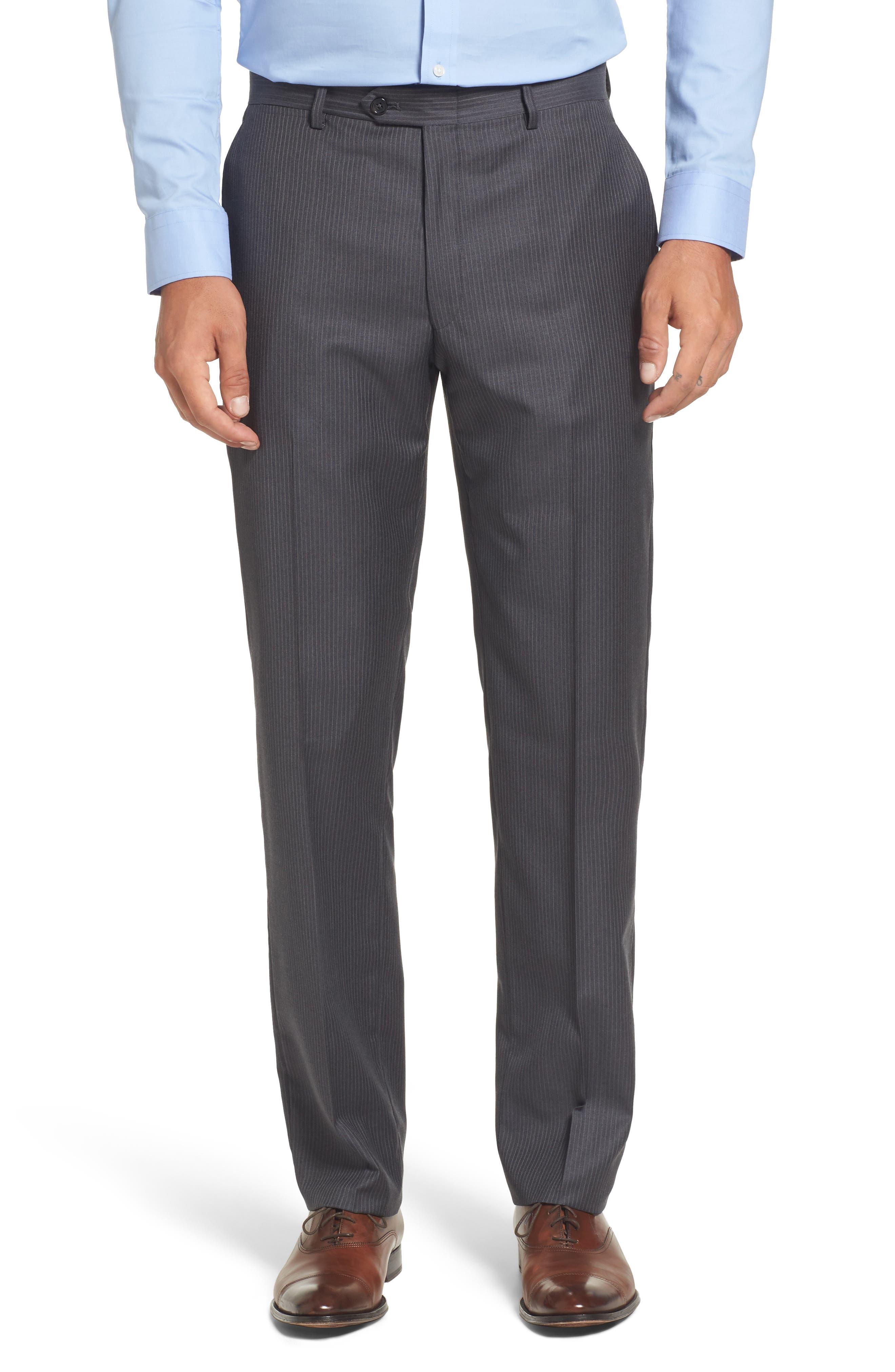 Classic Fit Stripe Wool Suit,                             Alternate thumbnail 6, color,                             030