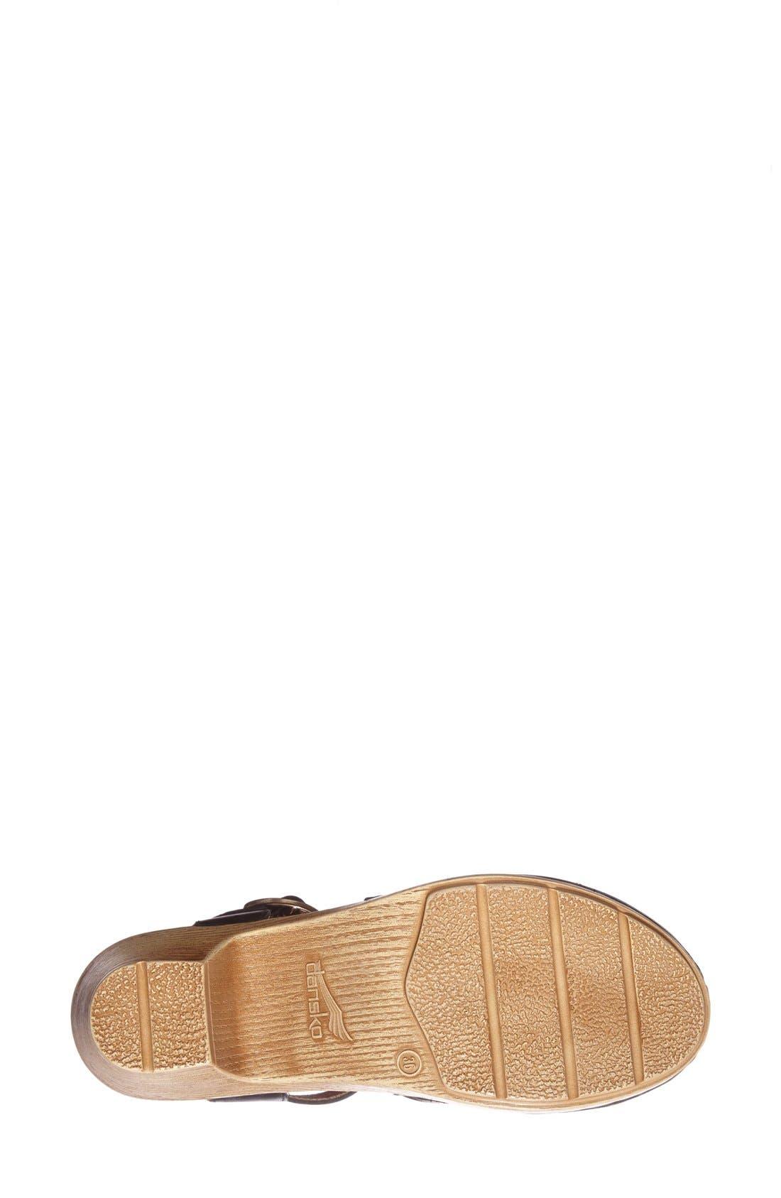 'Maisie' Ankle Strap Leather Pump,                             Alternate thumbnail 2, color,                             001