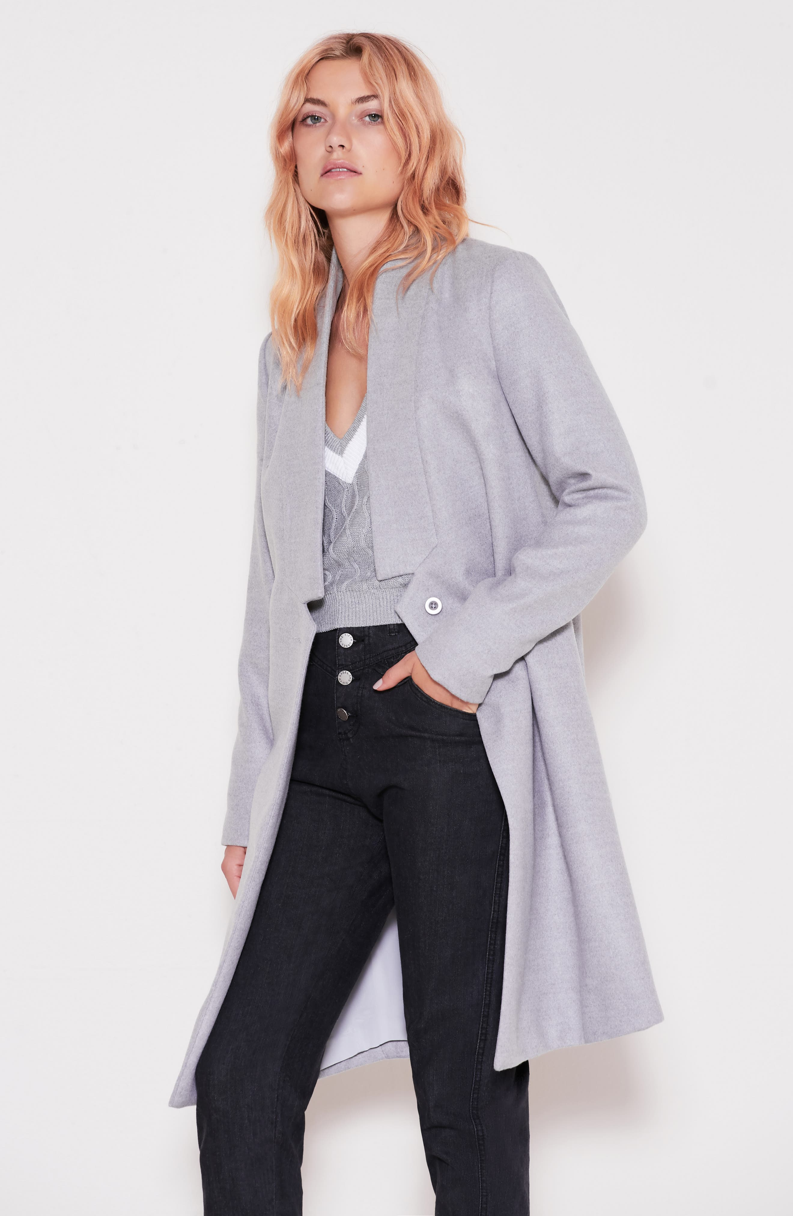 Seminar Coat,                             Alternate thumbnail 8, color,                             GREY MARLE